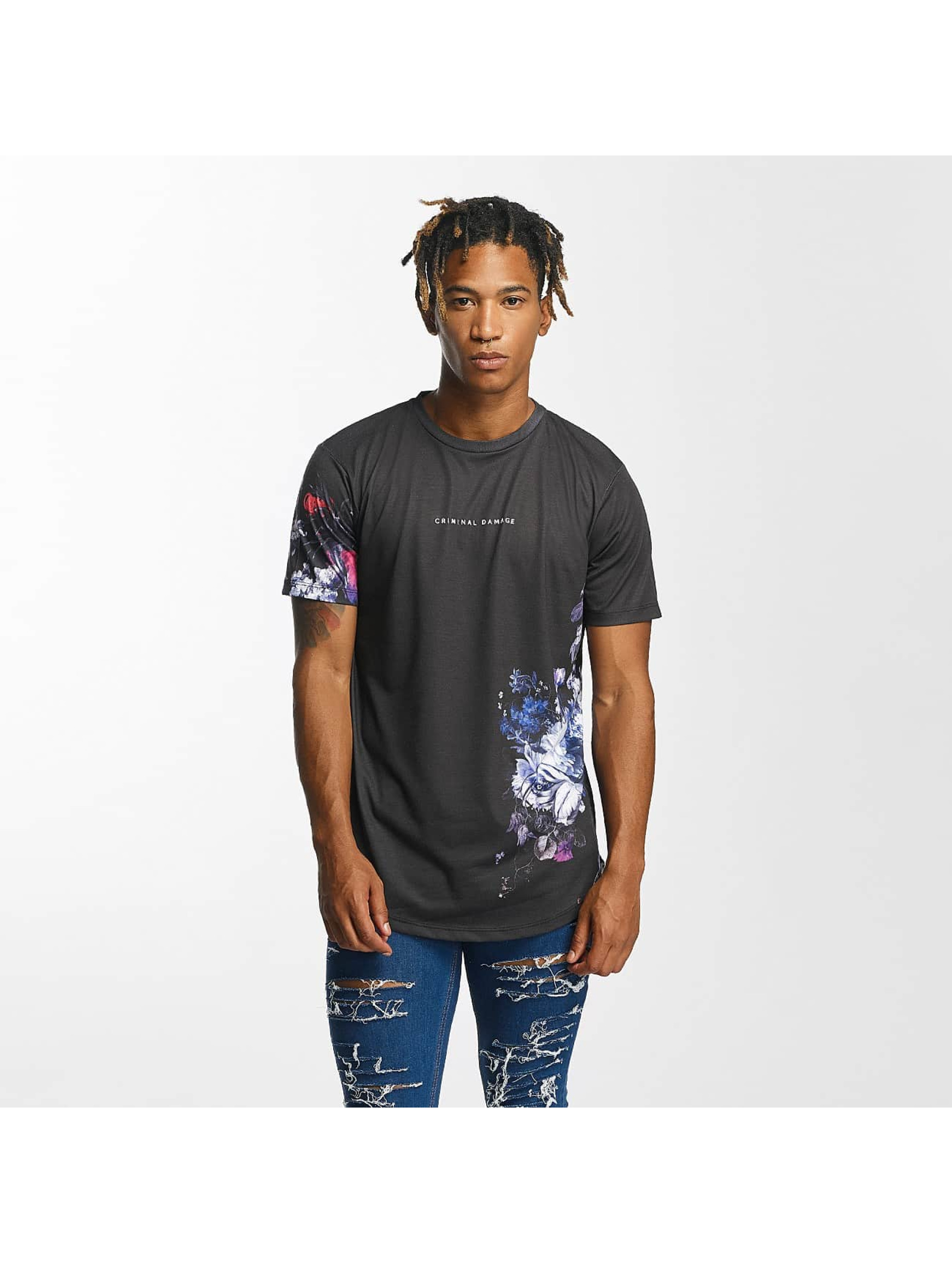Criminal Damage Männer T-Shirt Lyon in schwarz