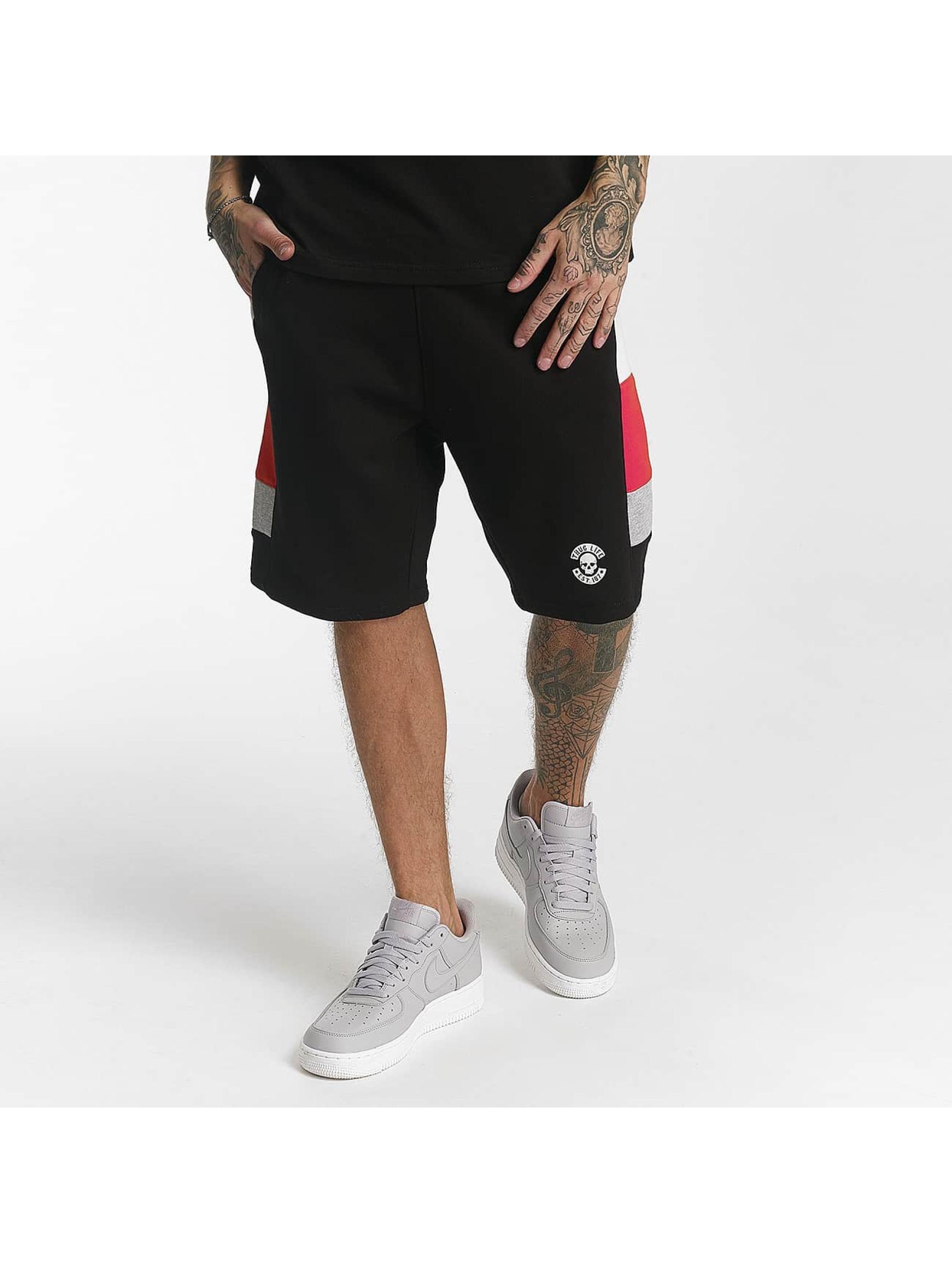 Thug Life / Short Leopard in black XL
