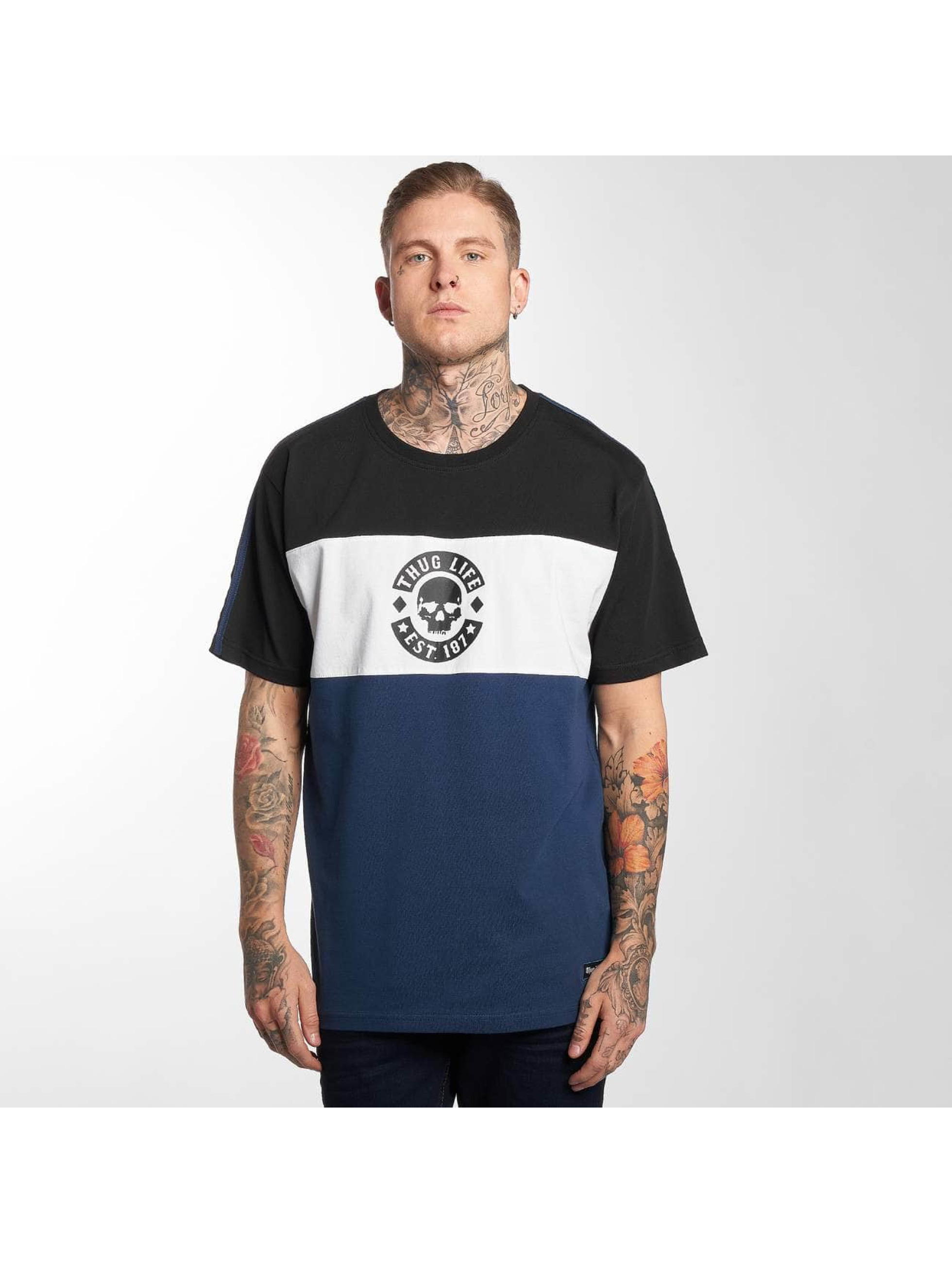 Thug Life / T-Shirt Lion in blue S