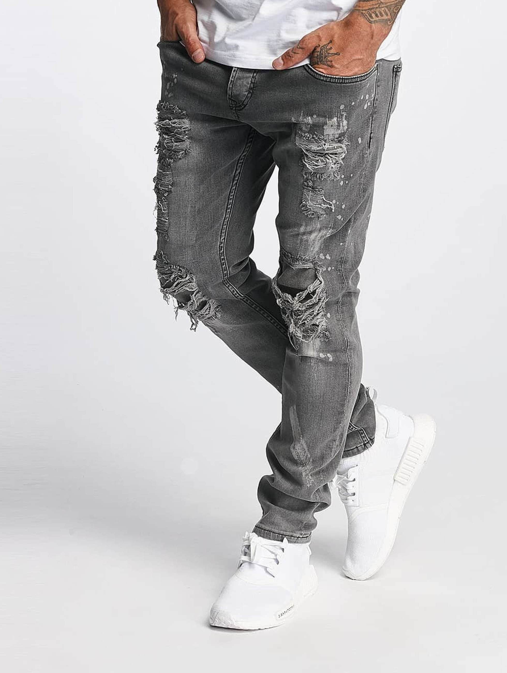 Cavallo de Ferro Männer Slim Fit Jeans Brady in grau