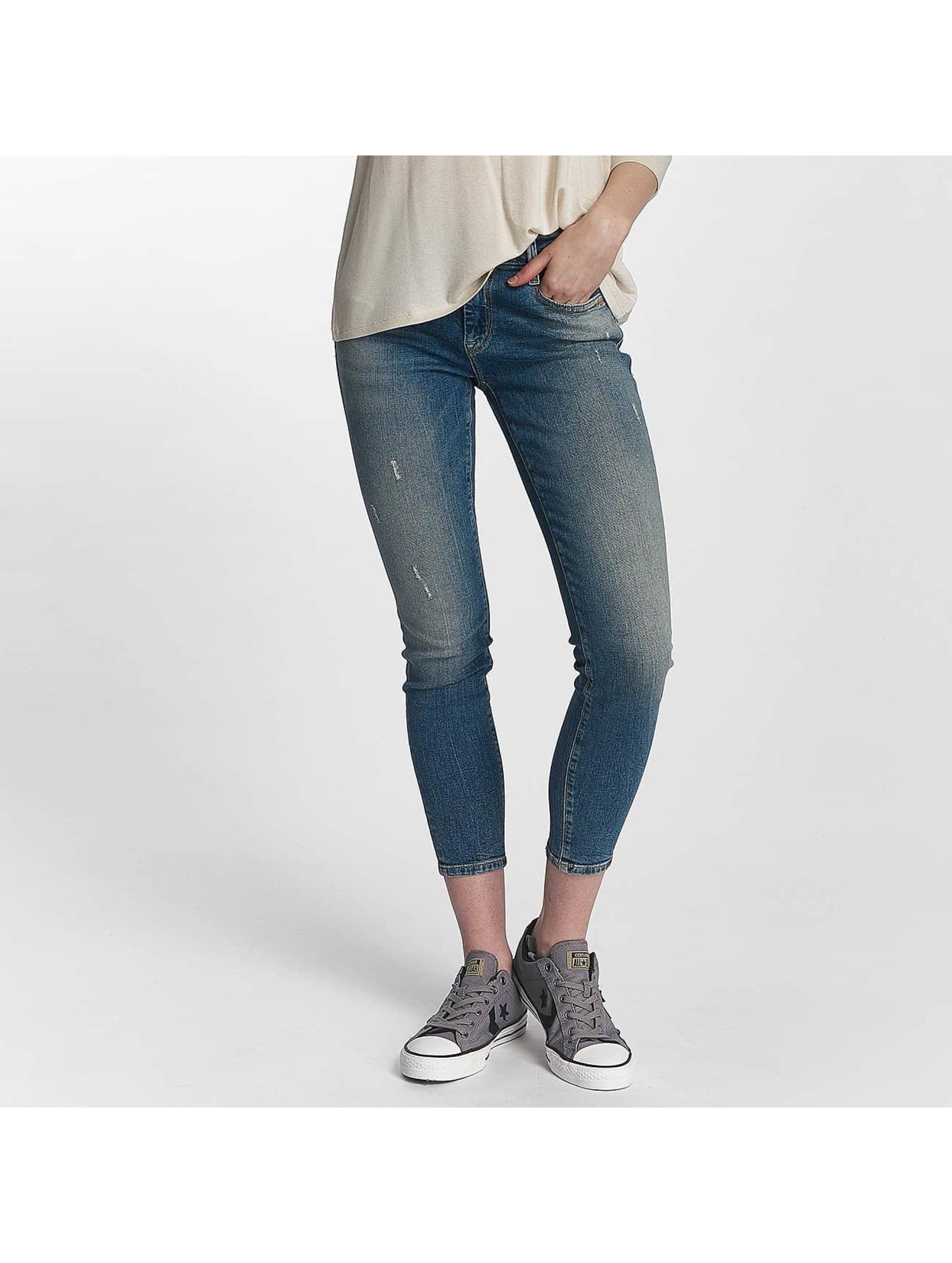 Mavi Jeans Frauen Skinny Jeans Adriana Mid Rise Super Skinny in blau