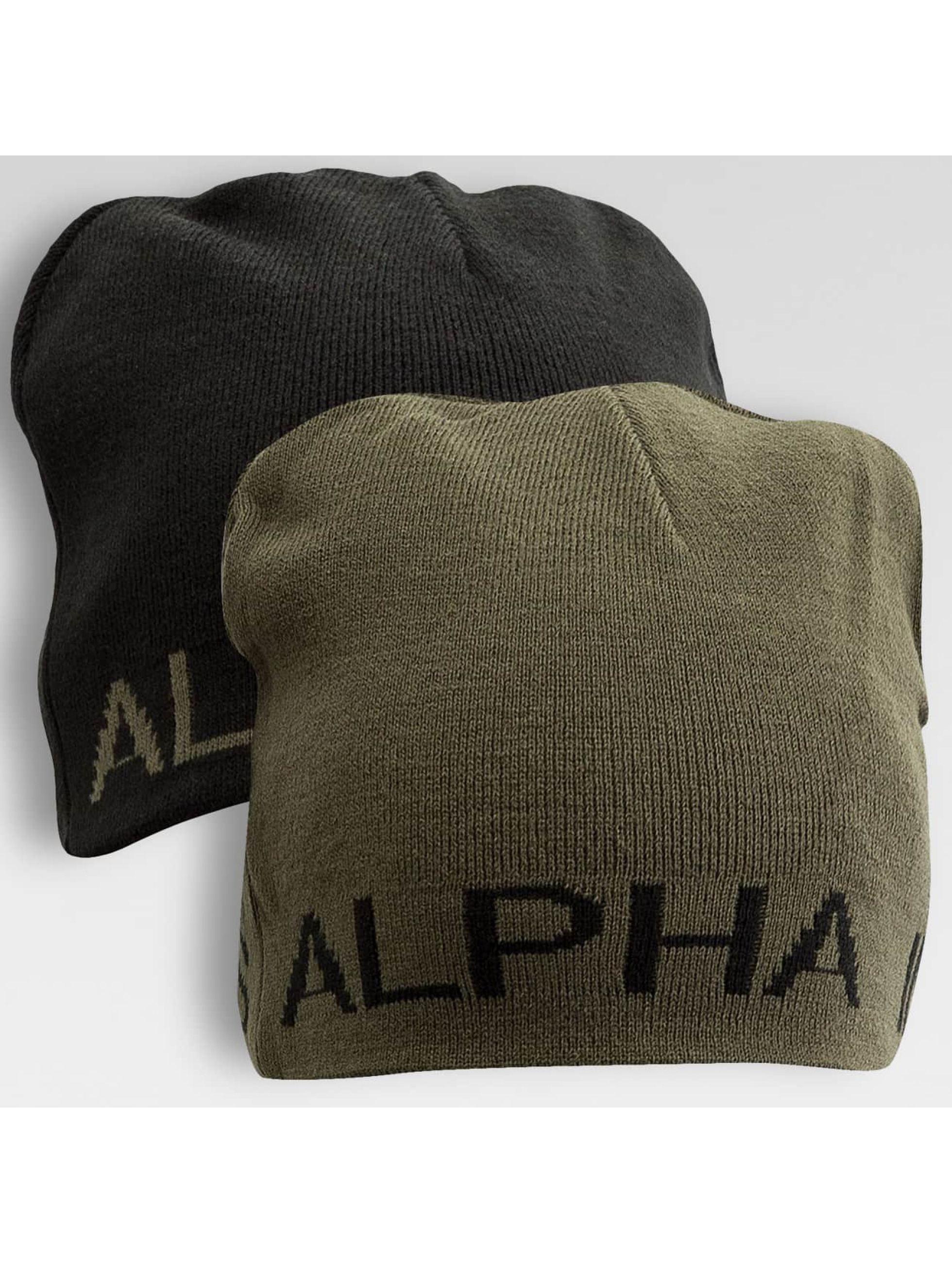 Alpha Industries Männer Beanie Reversible in schwarz