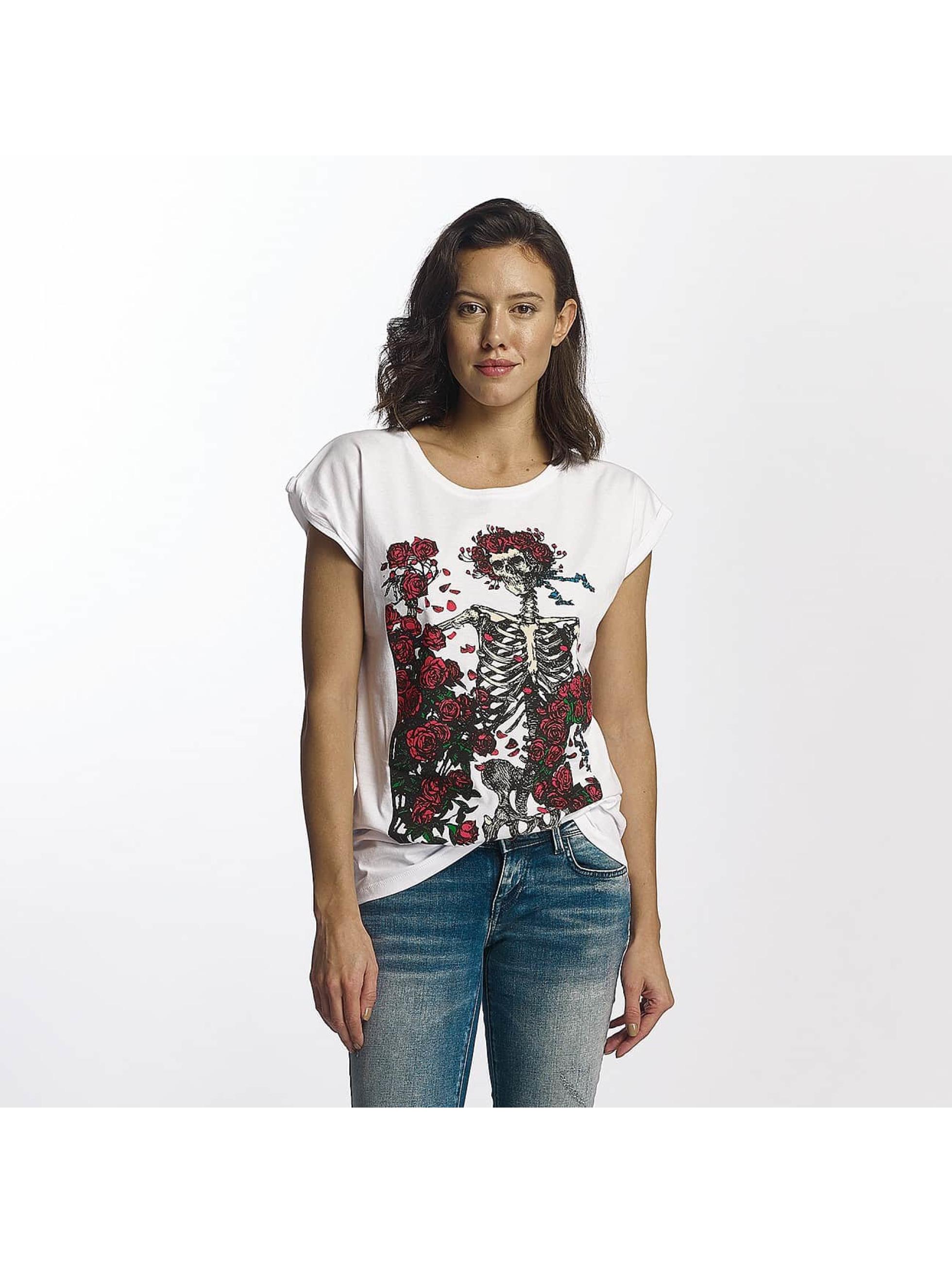 Merchcode Frauen T-Shirt Grateful Dead Rose in weiß