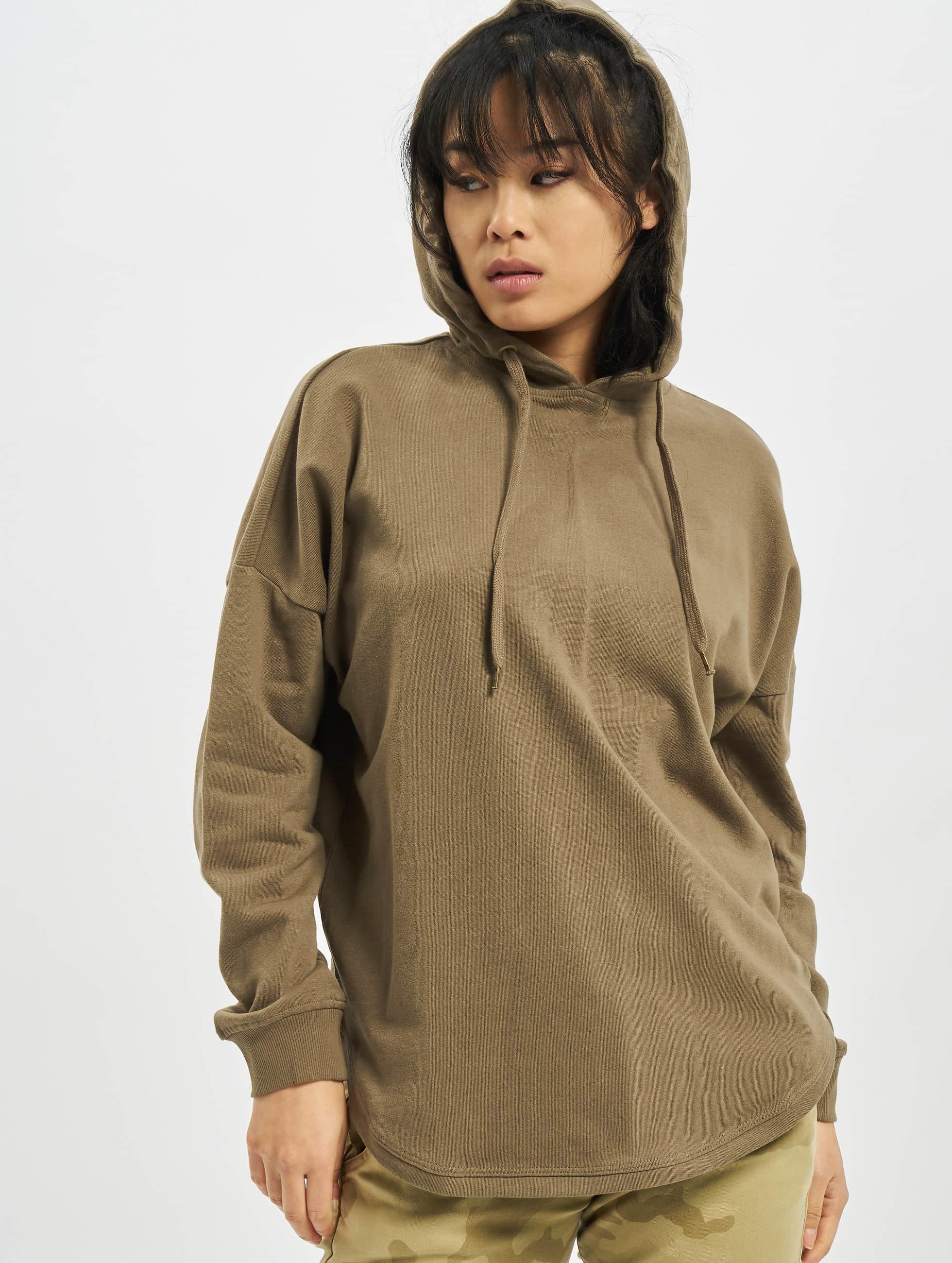 Urban Classics Frauen Hoody Oversized Terry in khaki