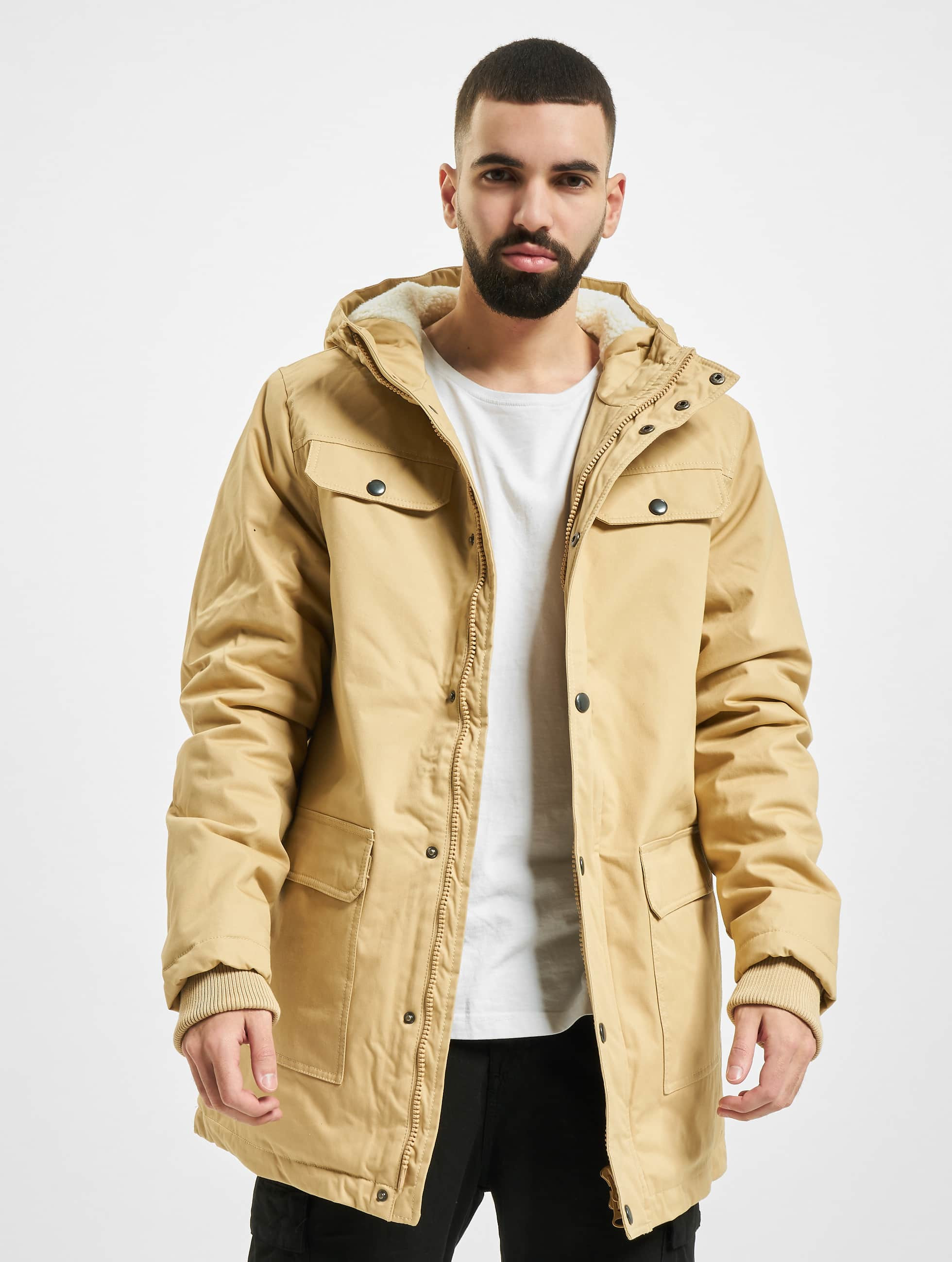 Urban Classics Männer Winterjacke Heavy Cotton in beige
