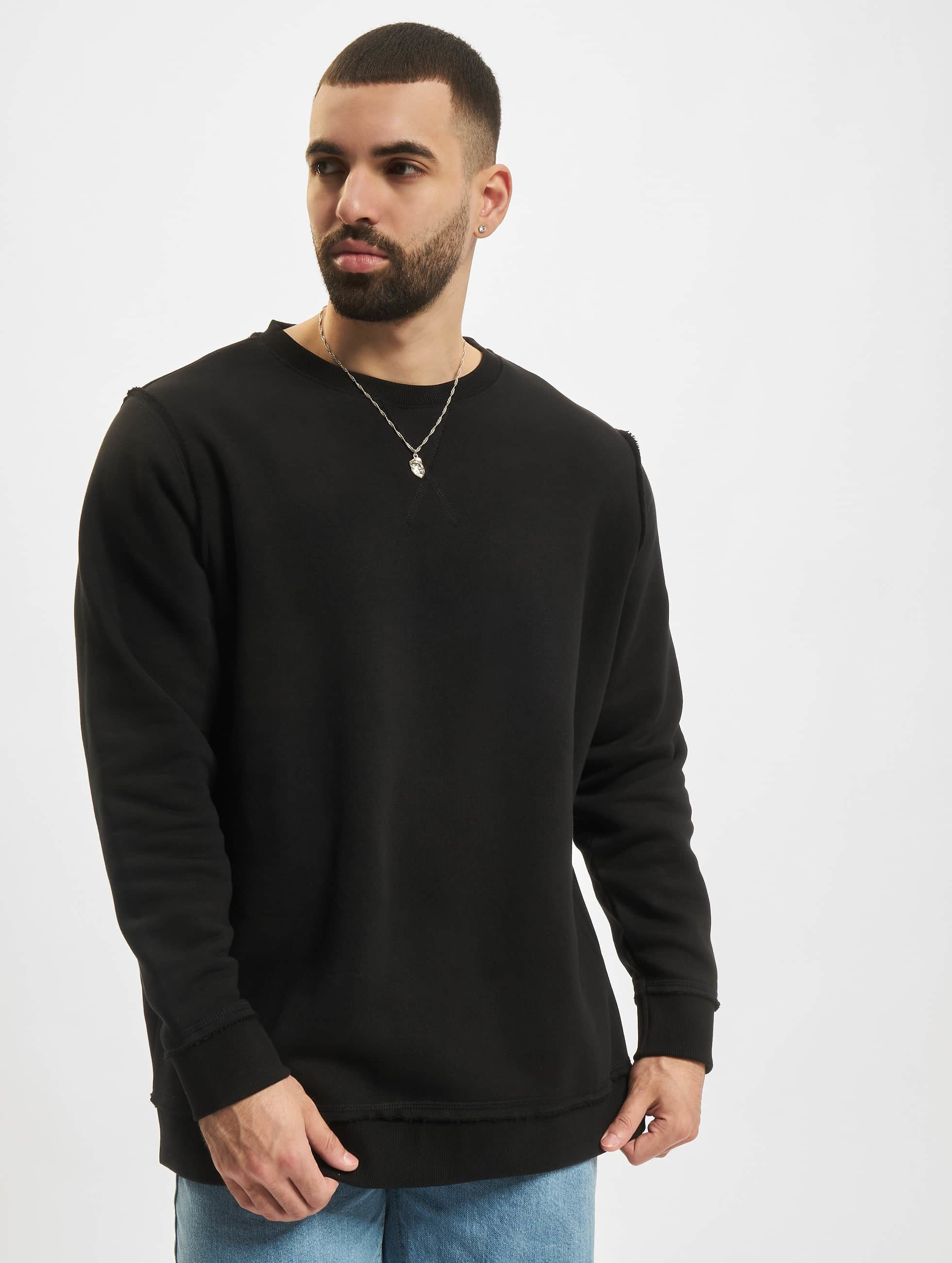 urban classics herren oberteile pullover oversized open edge ebay. Black Bedroom Furniture Sets. Home Design Ideas