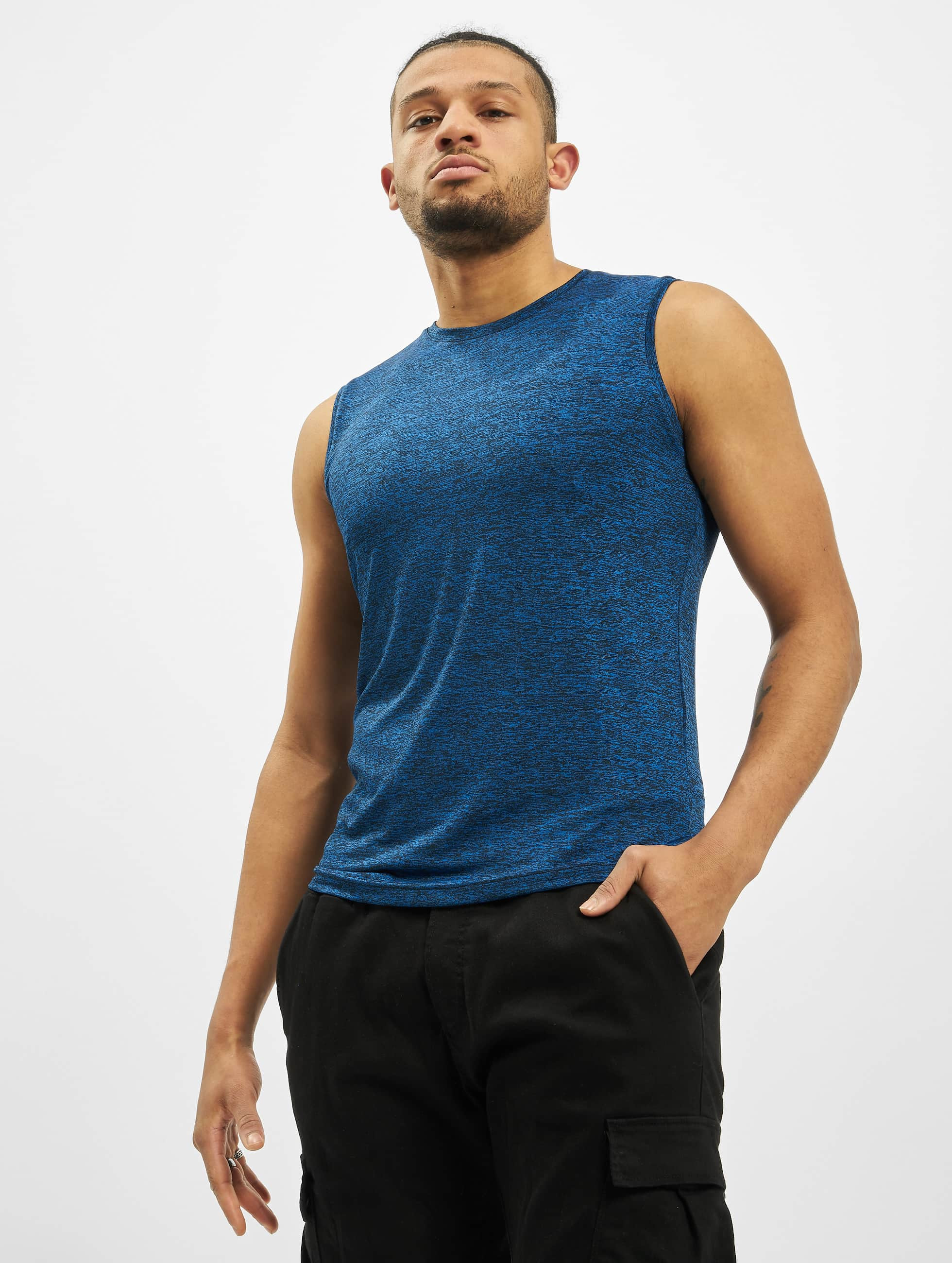 Urban Classics Männer Tank Tops Active Melange in blau