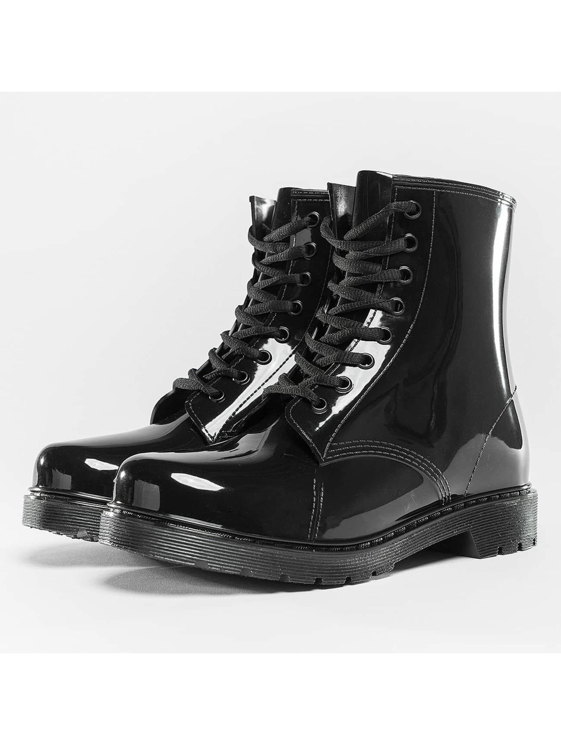 Urban Classics Frauen Boots Laced Rain in schwarz