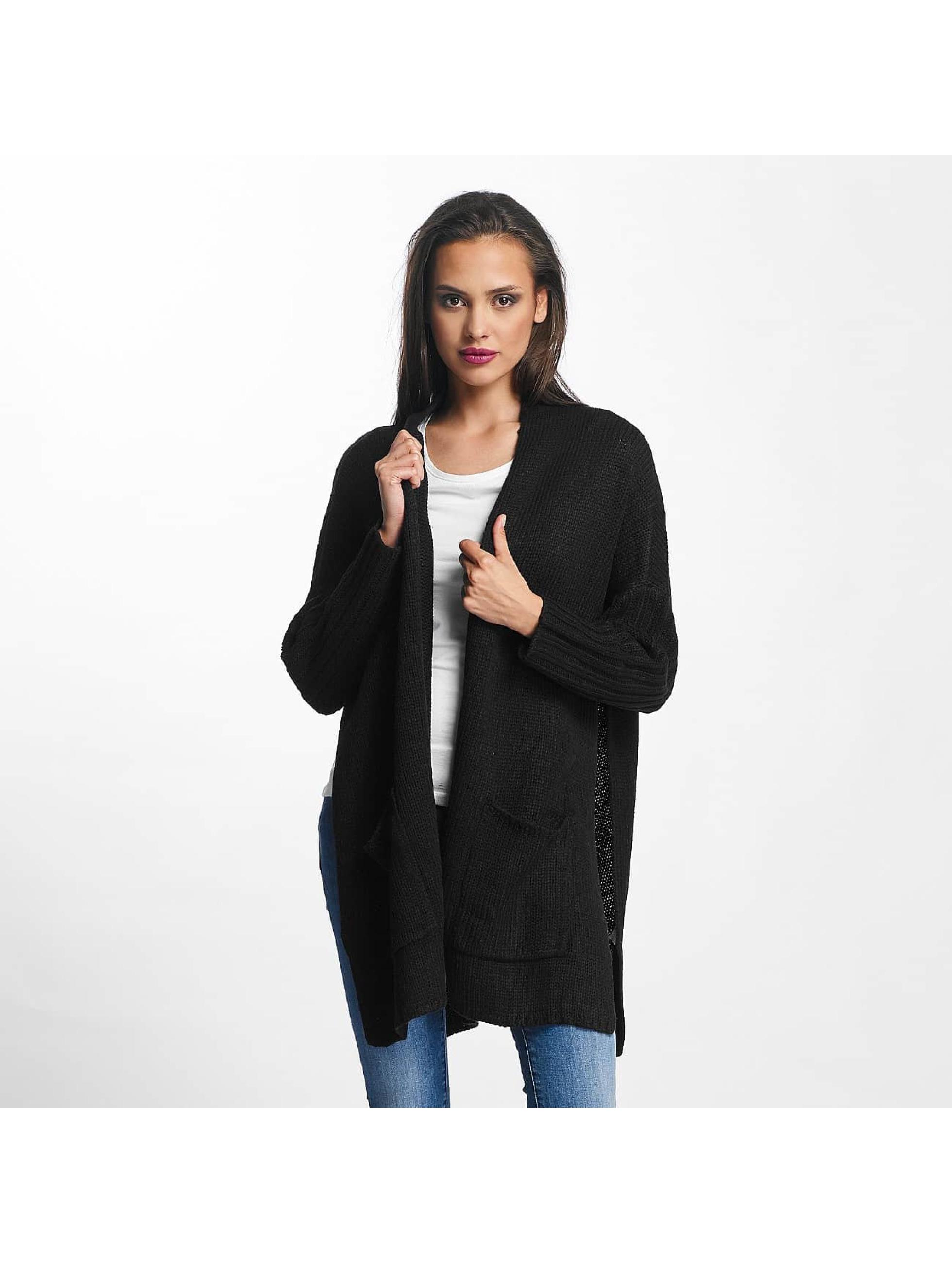 Urban Classics Frauen Strickjacke Oversized in schwarz