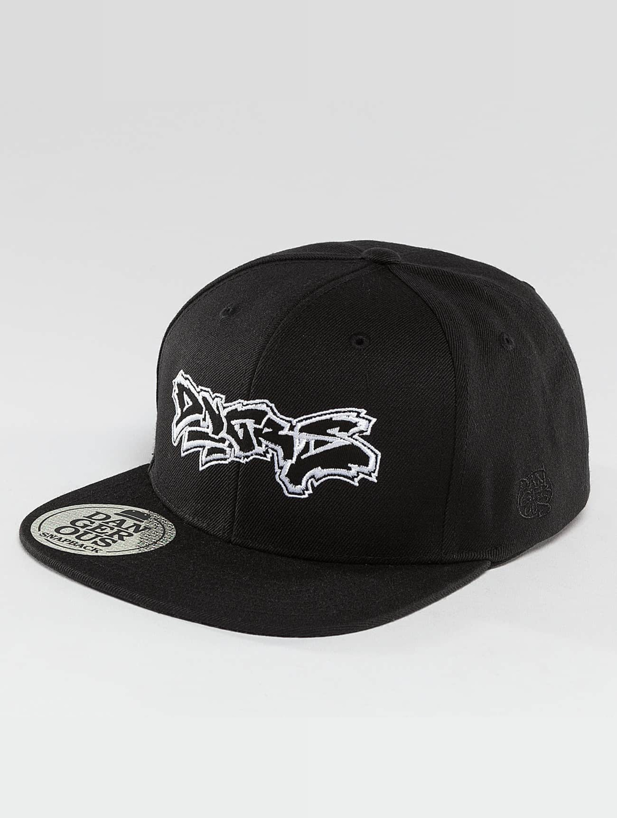Dangerous DNGRS / Snapback Cap Rocco Bombing in black Adjustable