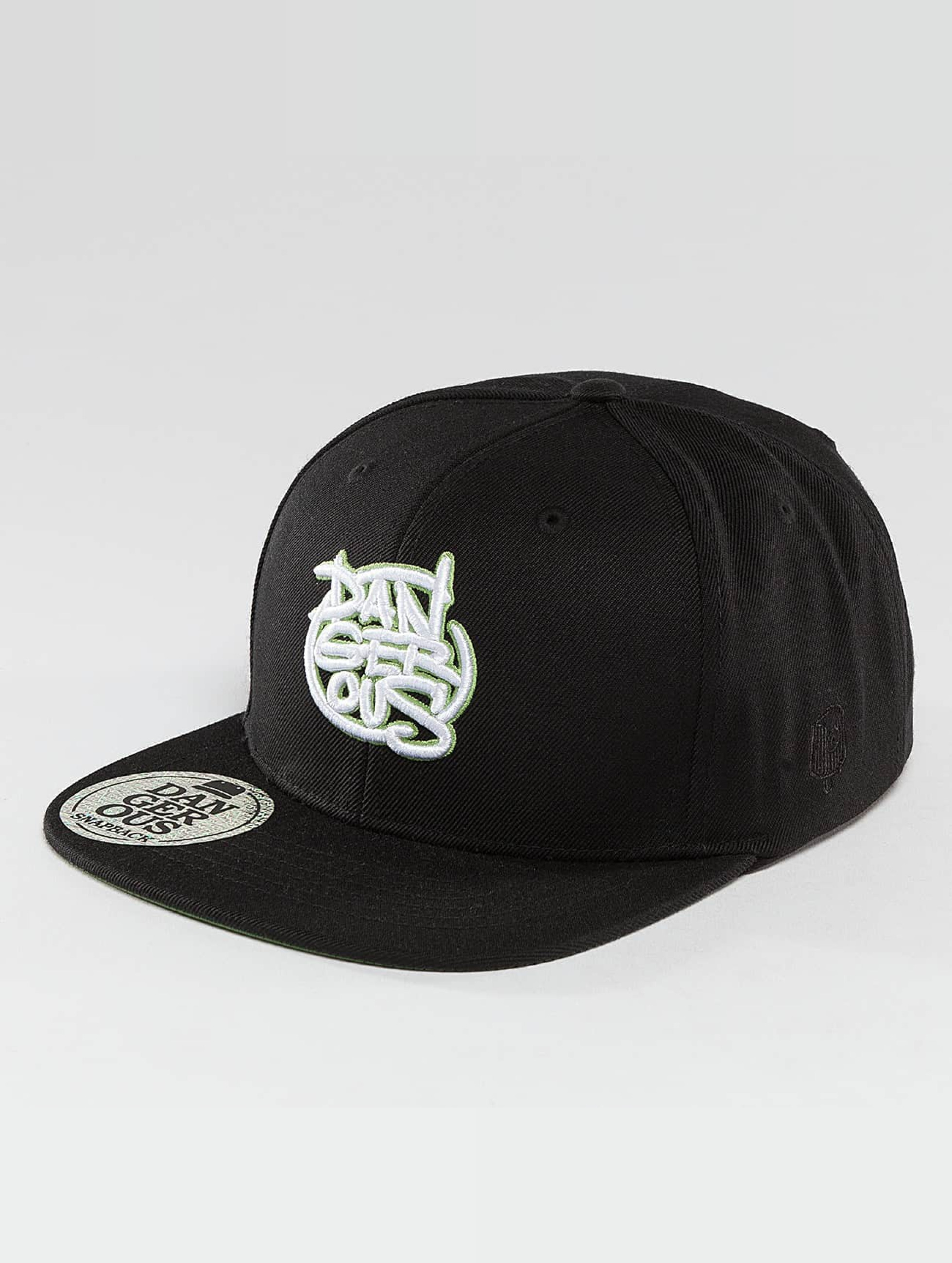 Dangerous DNGRS / Snapback Cap LGNDZ Logo in black Adjustable