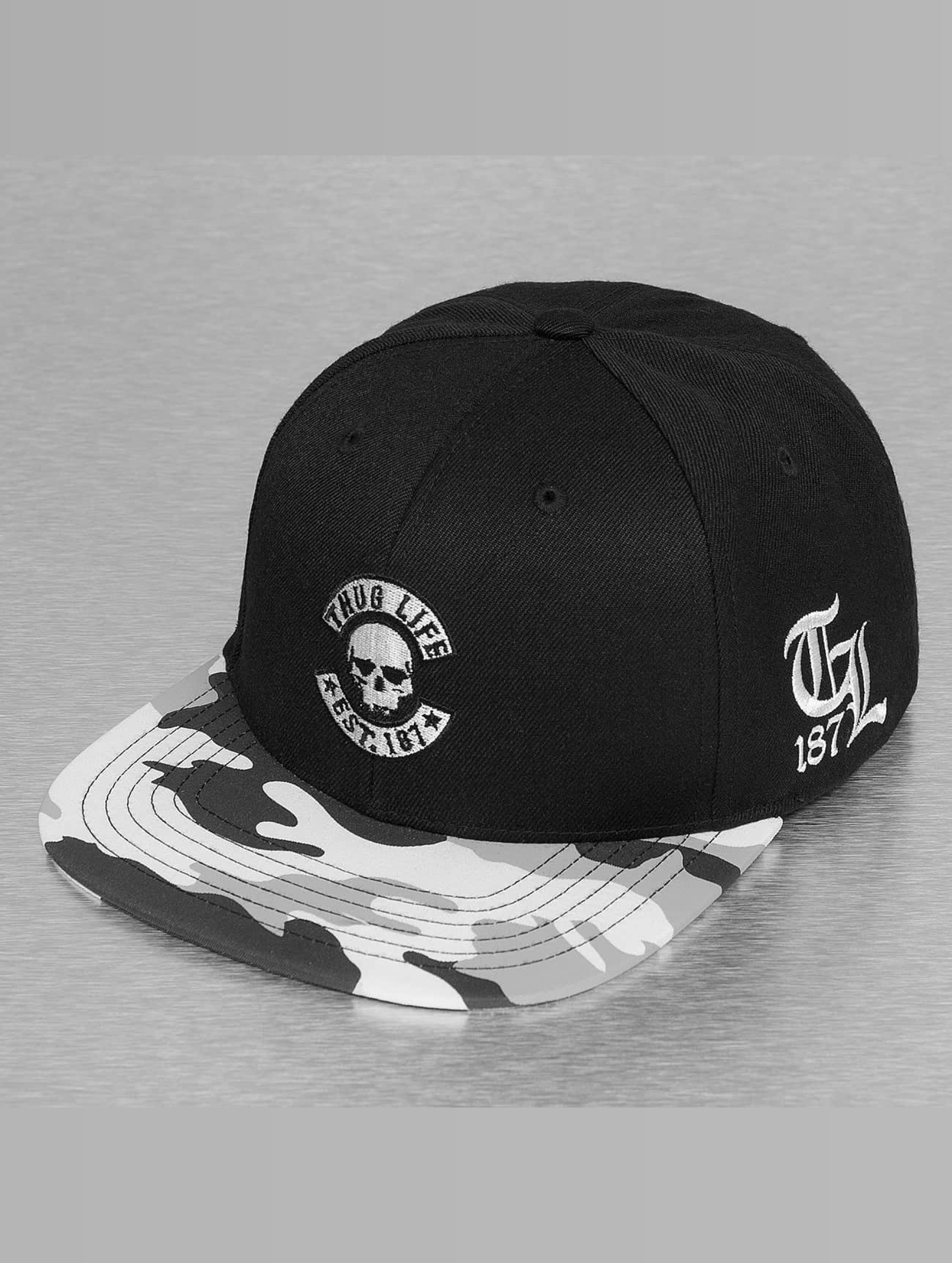 Thug Life / Snapback Cap Ragthug in black Adjustable