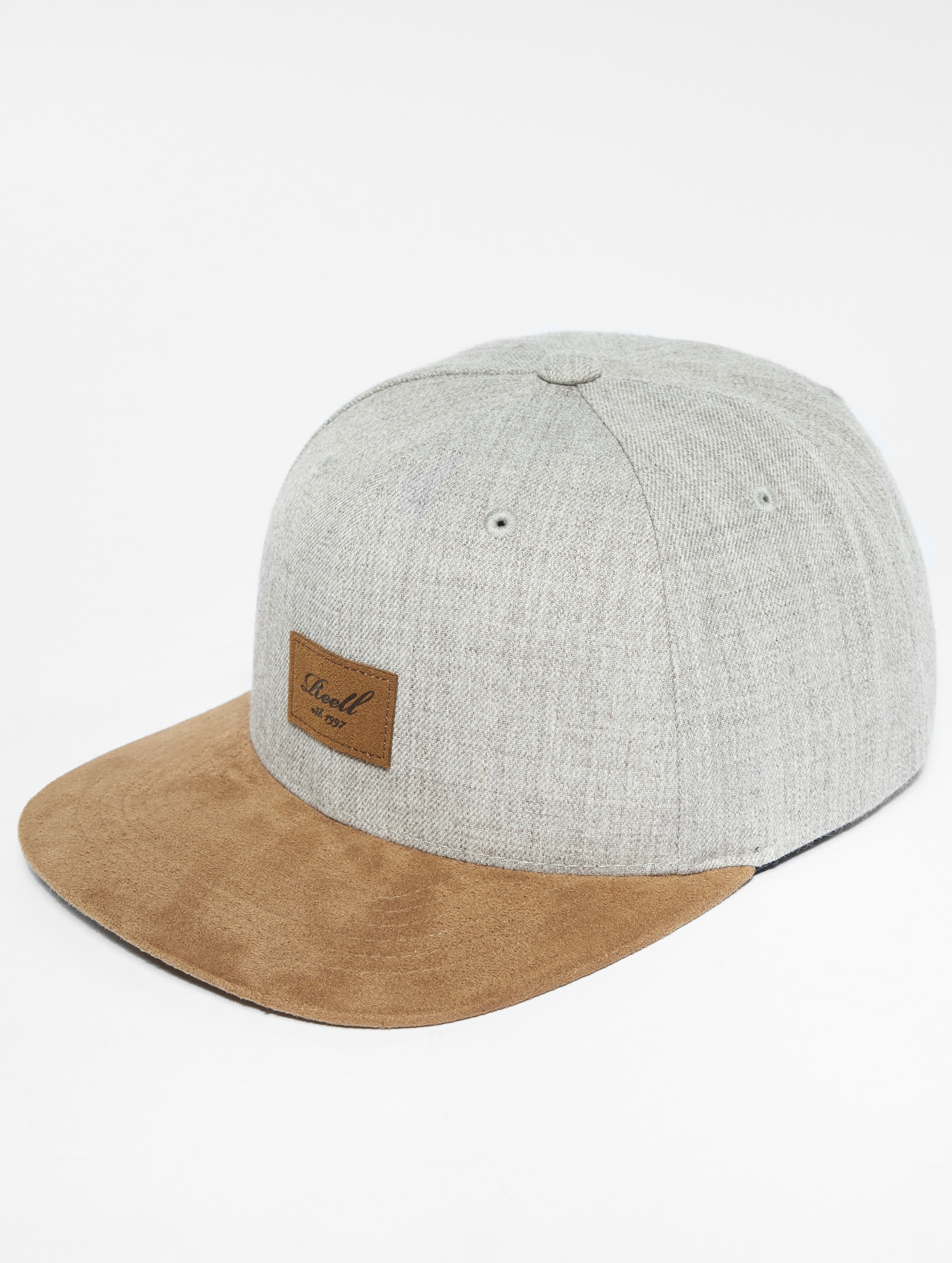 Reell Jeans | Suede gris Homme,Femme Casquette Snapback & Strapback