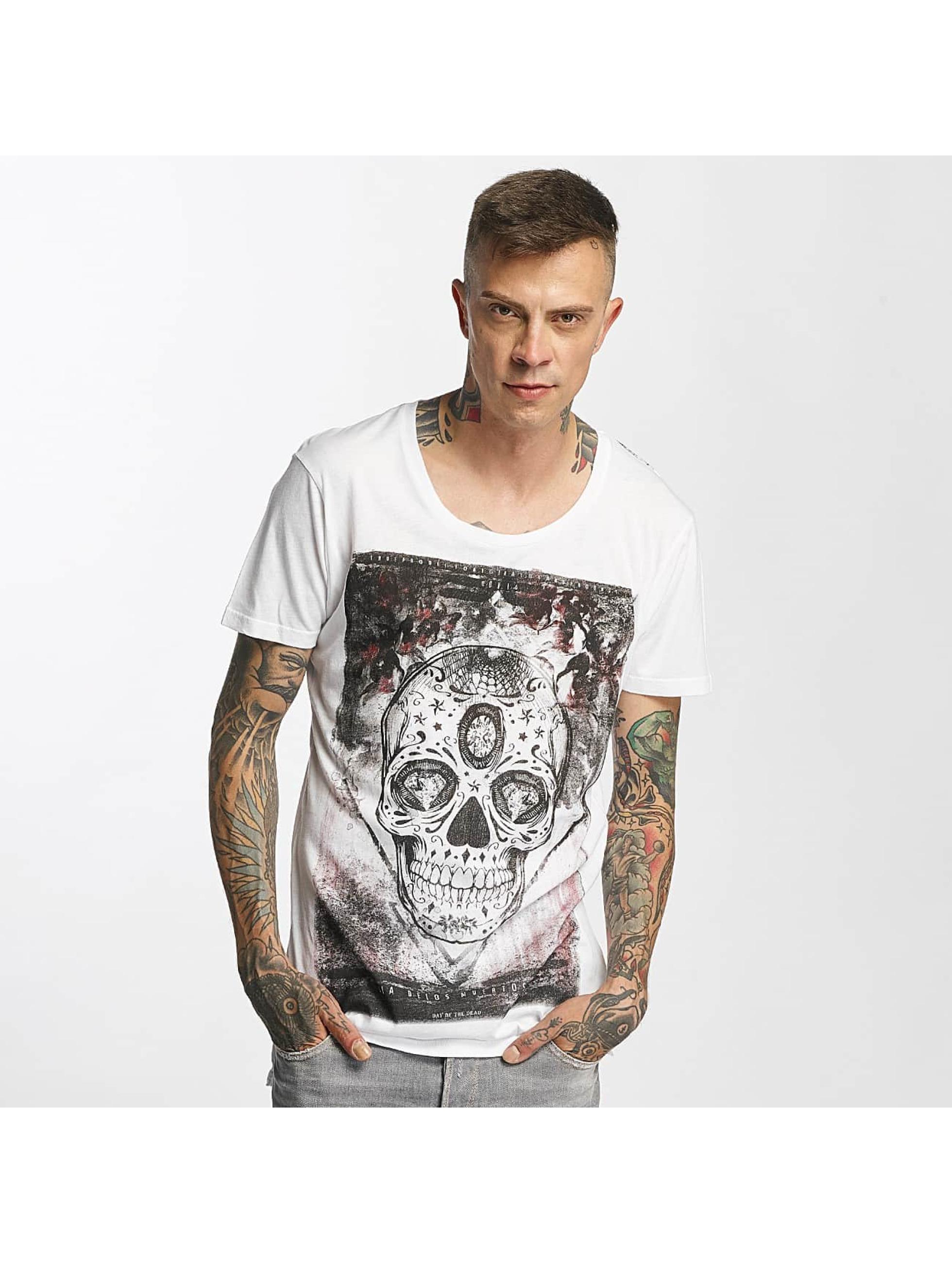 trueprodigy Männer T-Shirt Skull in weiß