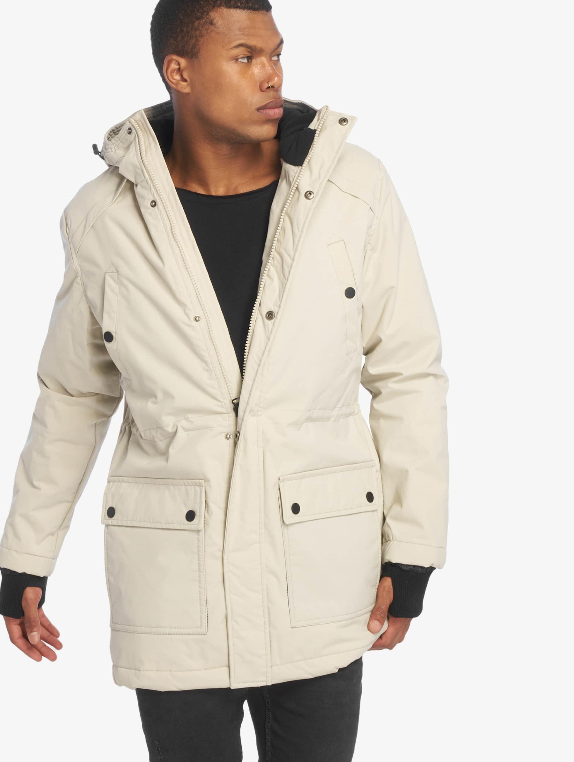 Urban Classics Männer Mantel Hooded Heavy Thumbhole in beige