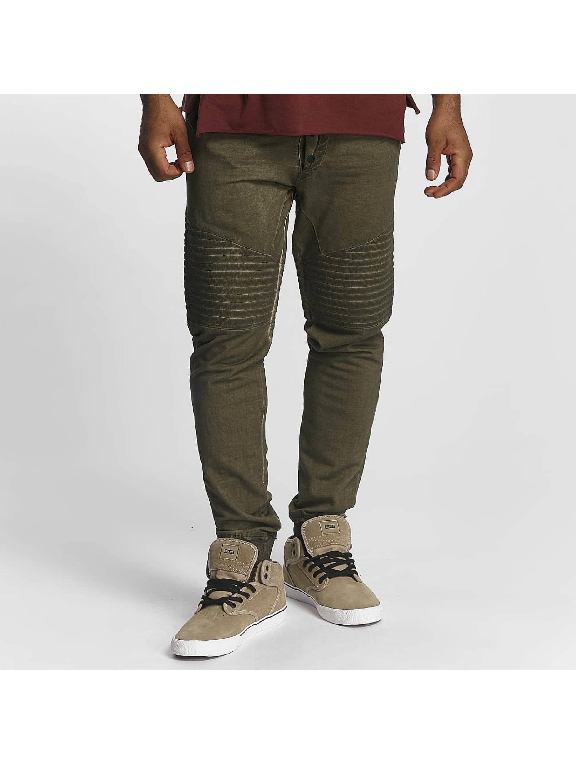 trueprodigy Männer Jogginghose Stiched in olive