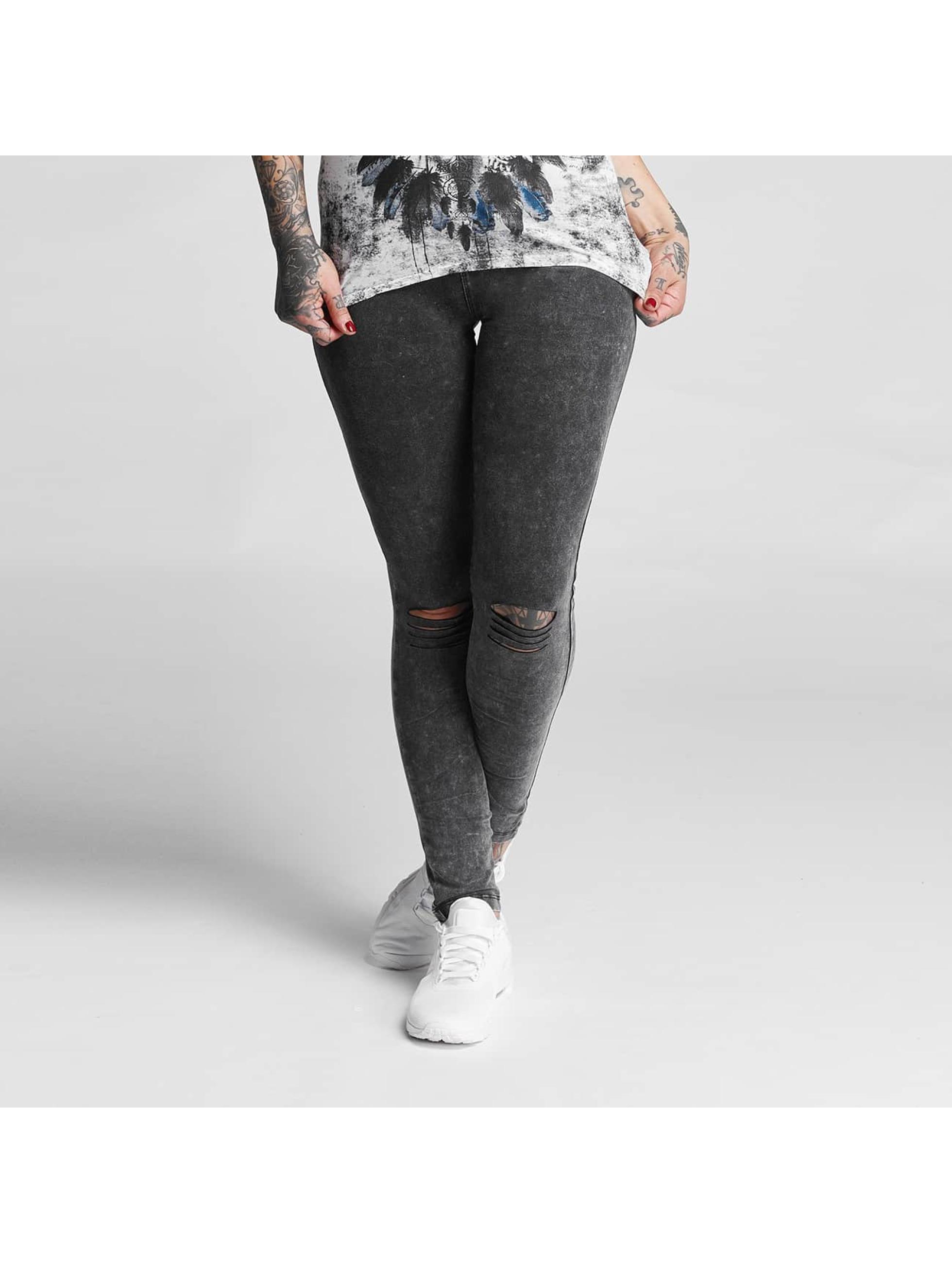 trueprodigy Frauen Legging Ripped in grau