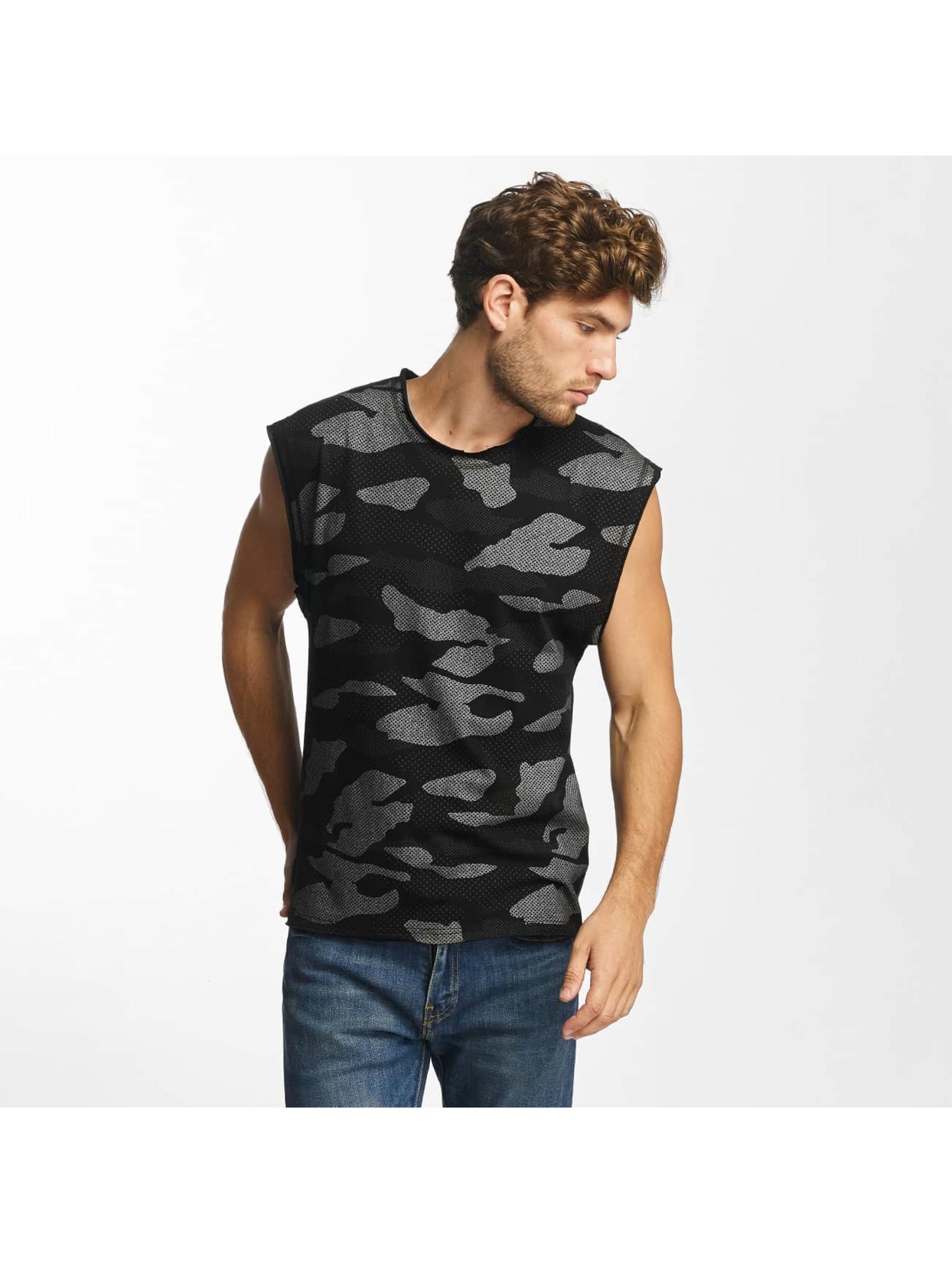 Red Bridge Männer Tank Tops Contrast Effect Camouflage Pixel in schwarz
