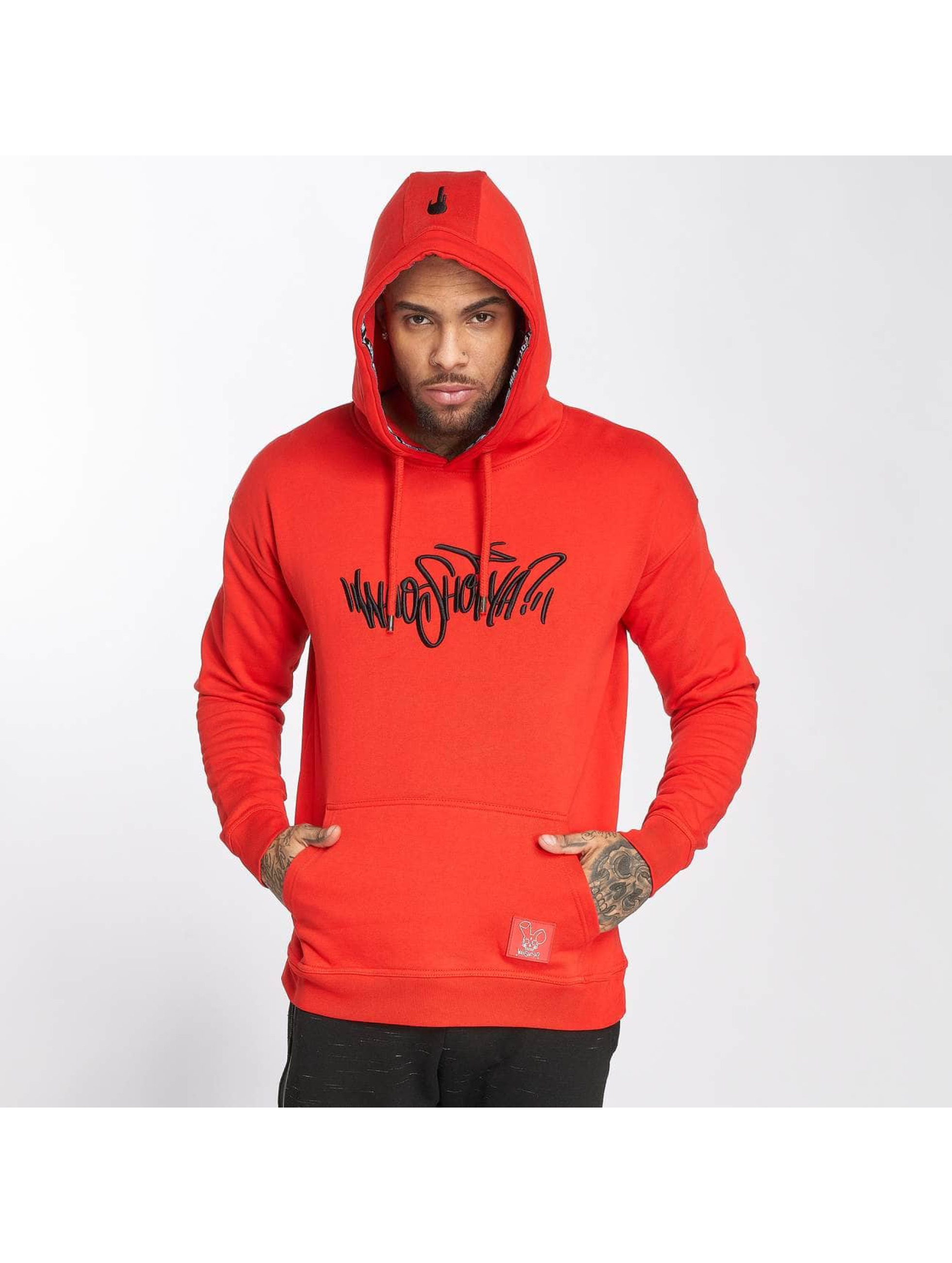 Who Shot Ya? / Hoodie Capital W in red XL