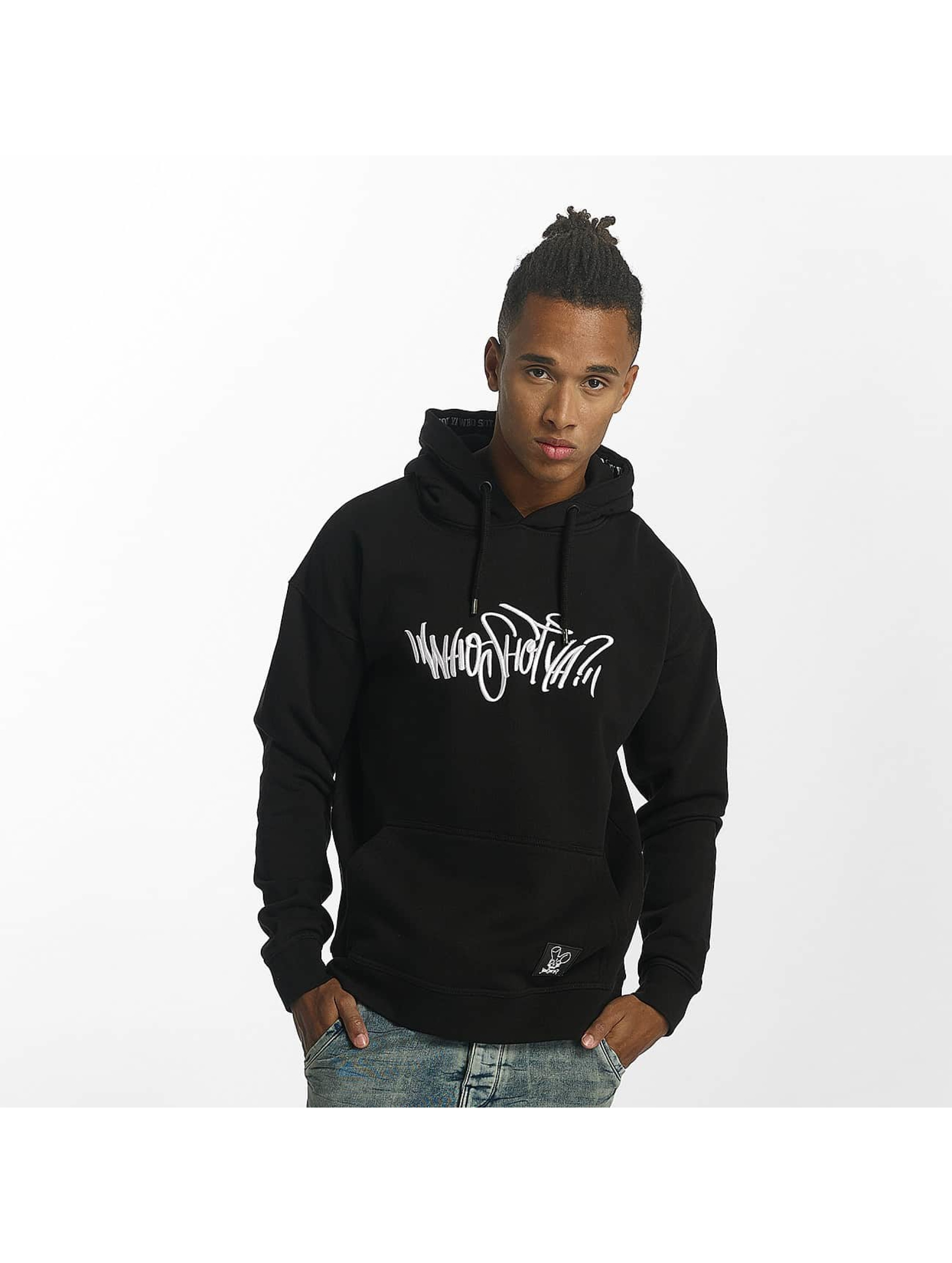Who Shot Ya? / Hoodie Capital W in black S