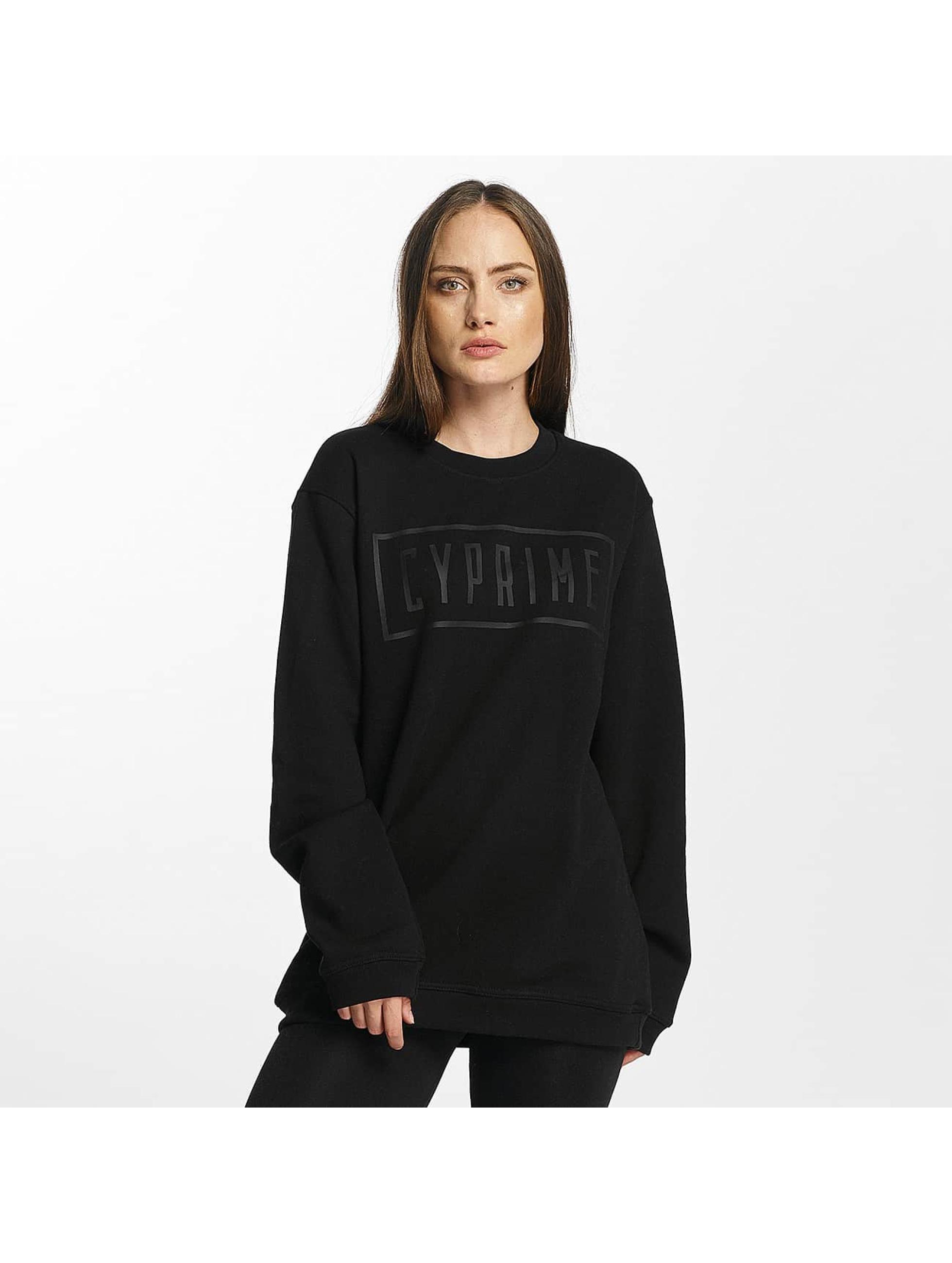 Cyprime Frauen Pullover Zirconium Oversized in schwarz
