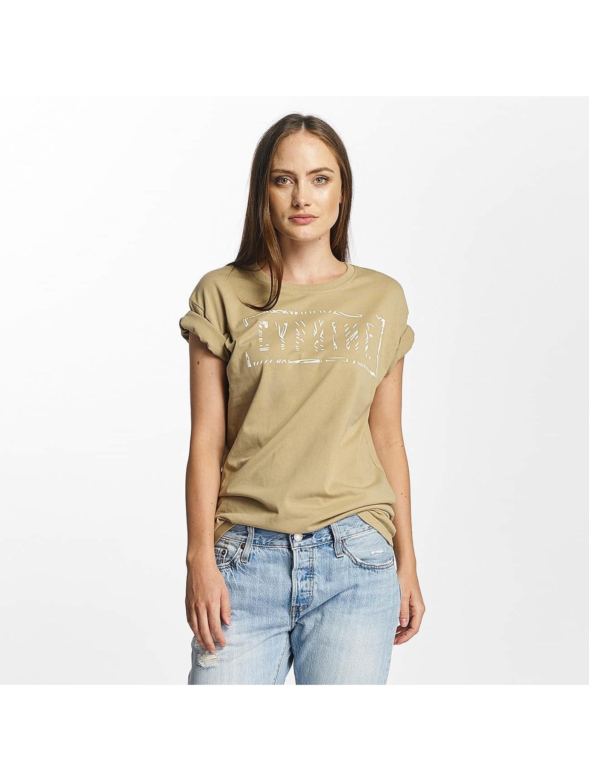Cyprime Frauen T-Shirt Cerium Oversized in beige