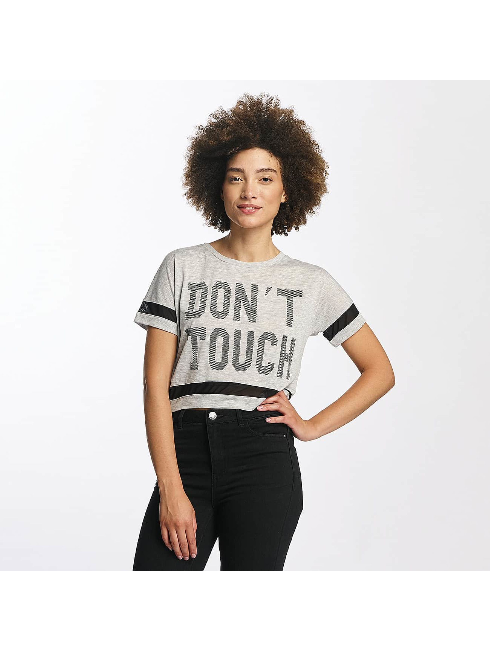 Hailys Frauen T-Shirt Bonnie Cropped in grau