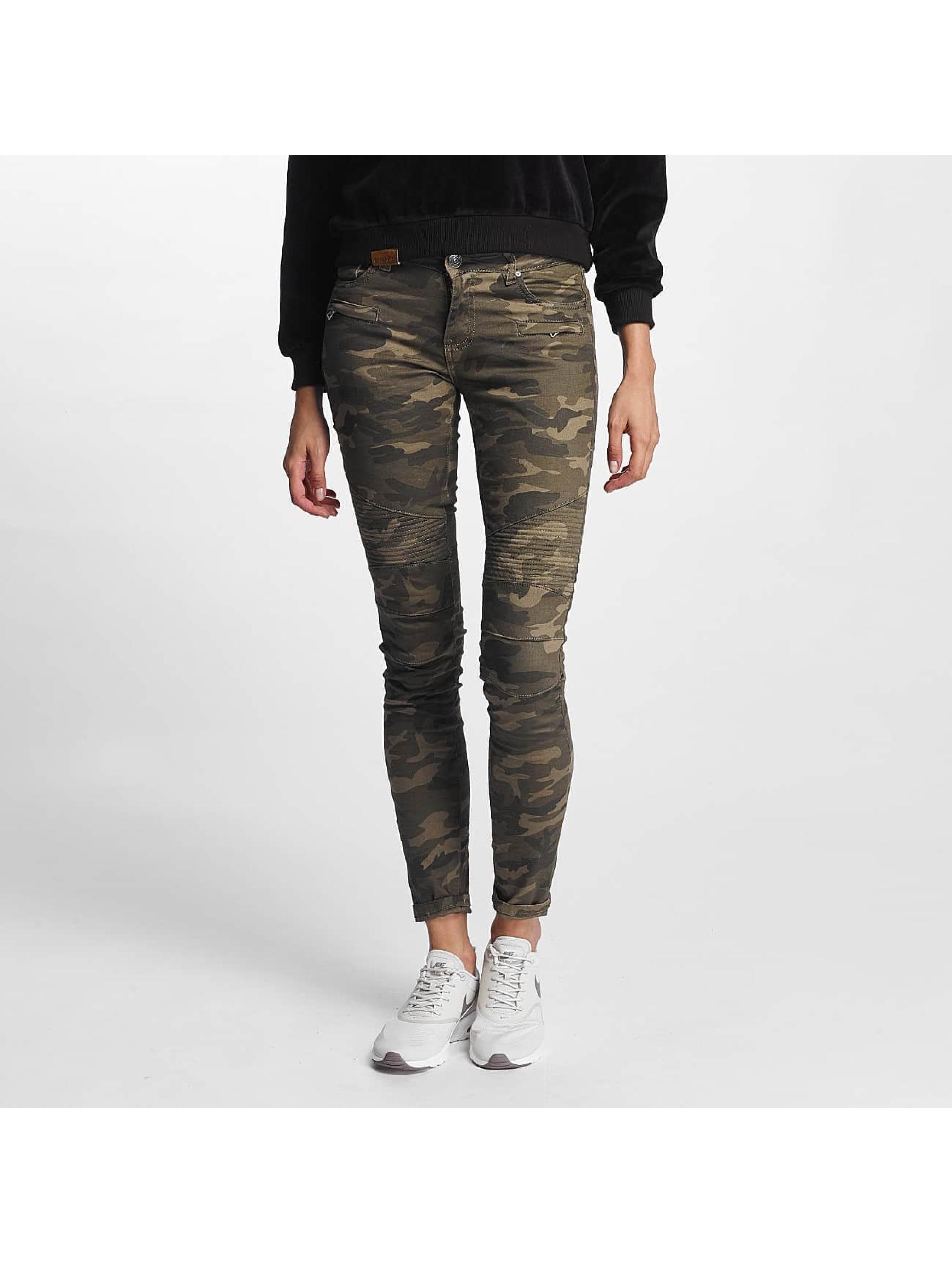 Hailys / Skinny Jeans Kina Biker in camouflage