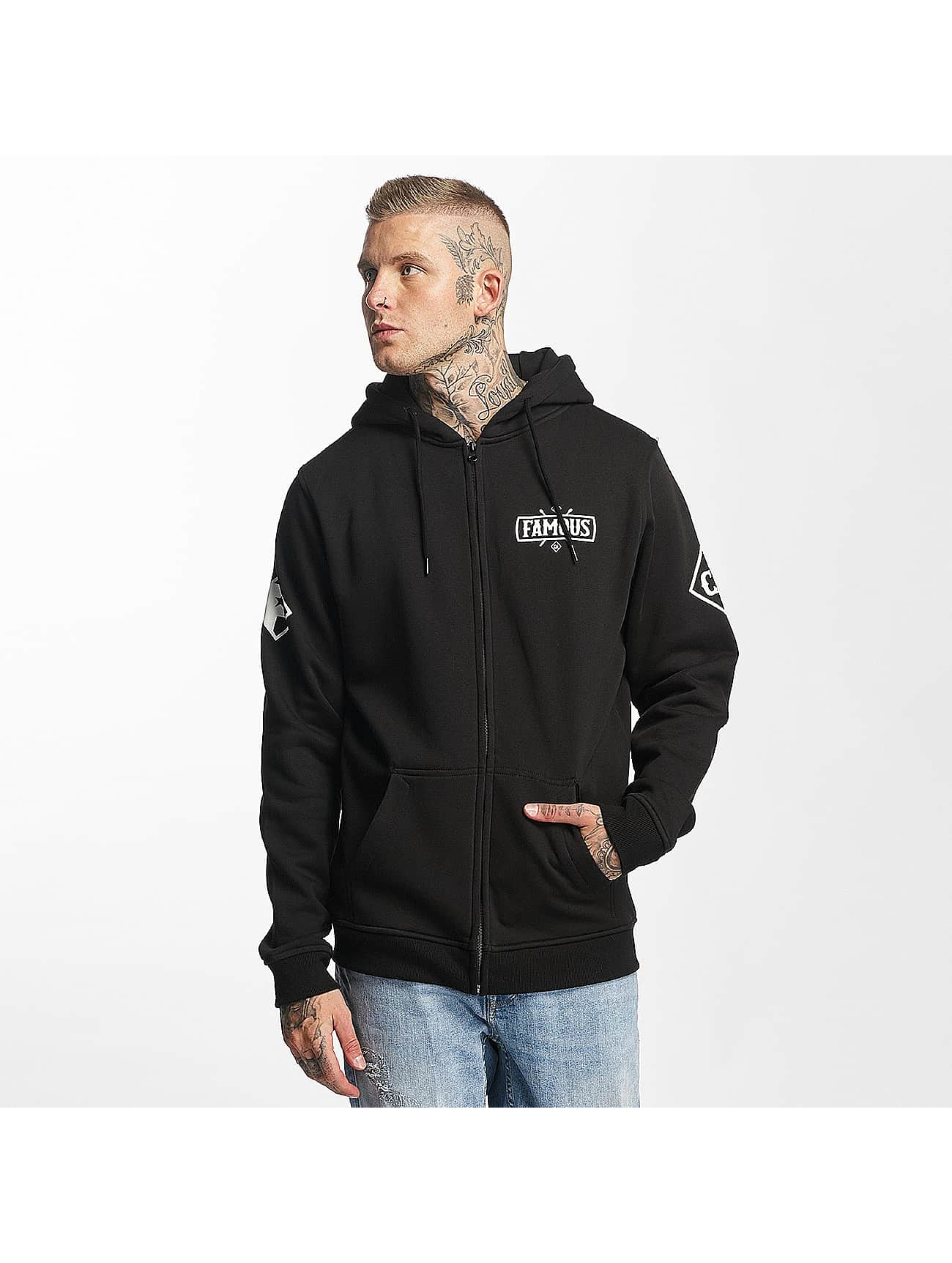 Famous Stars and Straps Männer Zip Hoodie Chaos in schwarz