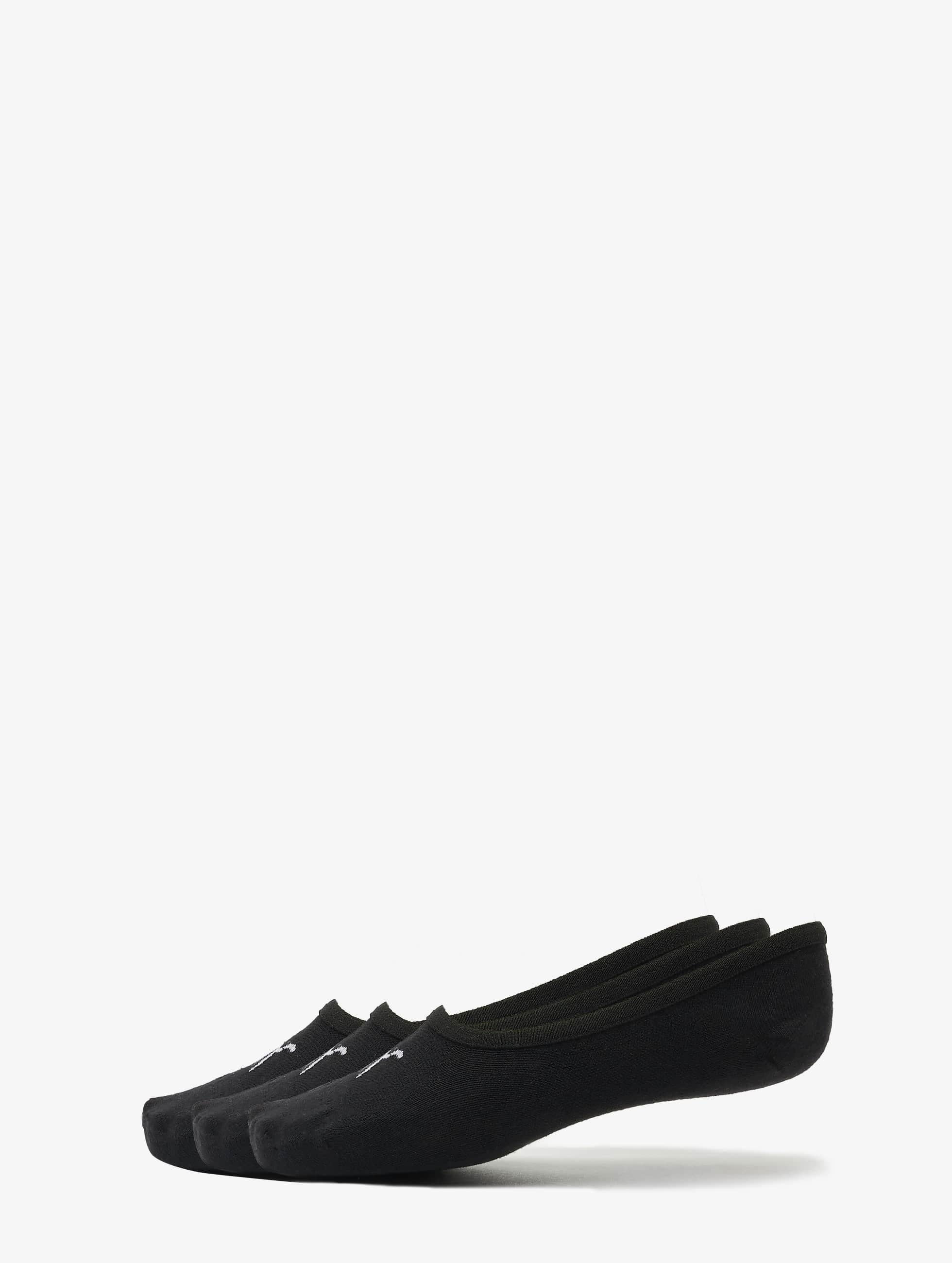 Puma Männer,Frauen Socken 3-Pack Footies in schwarz