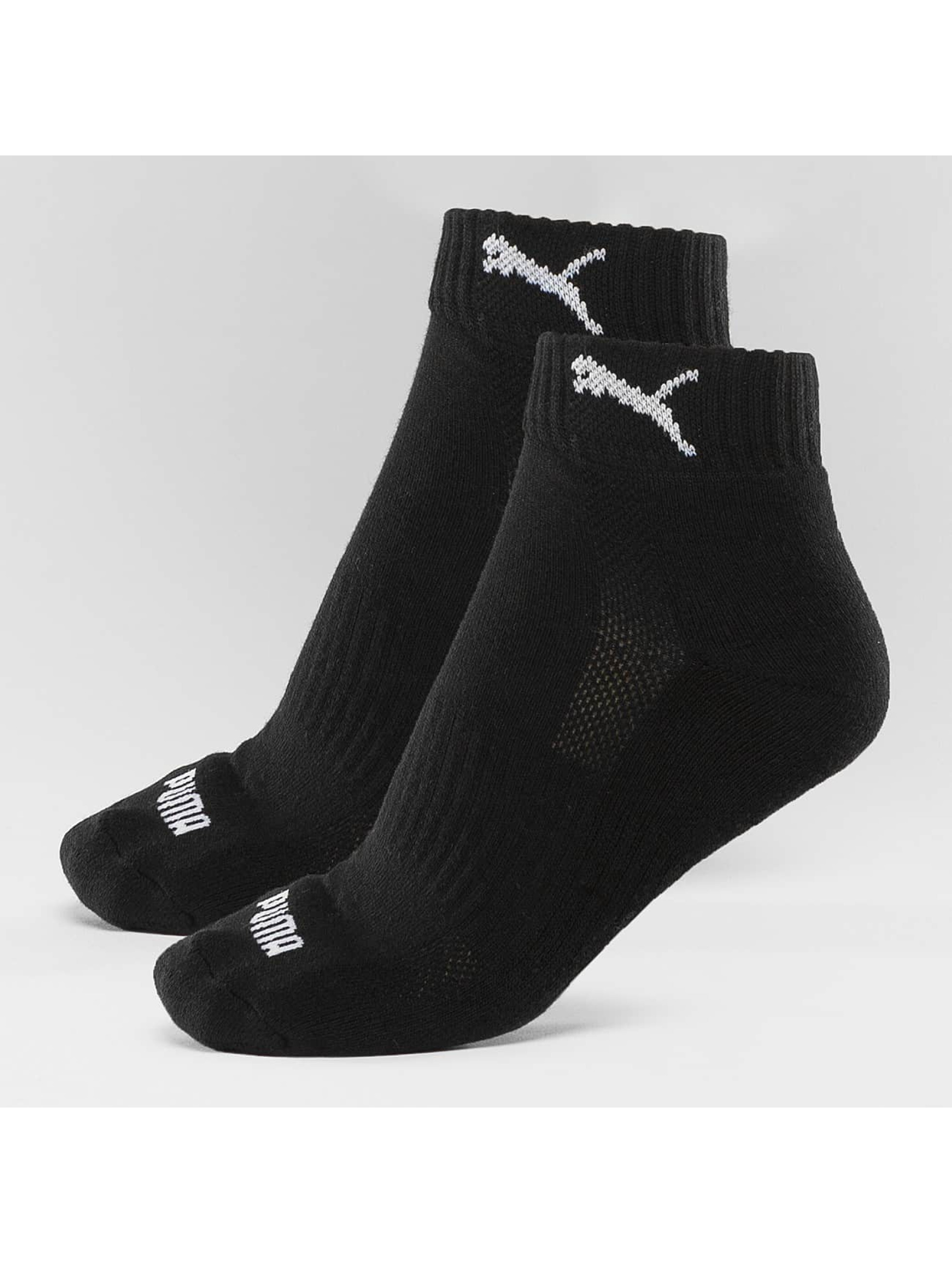 Puma Männer,Frauen Socken 2-Pack Cushioned Quarters in schwarz