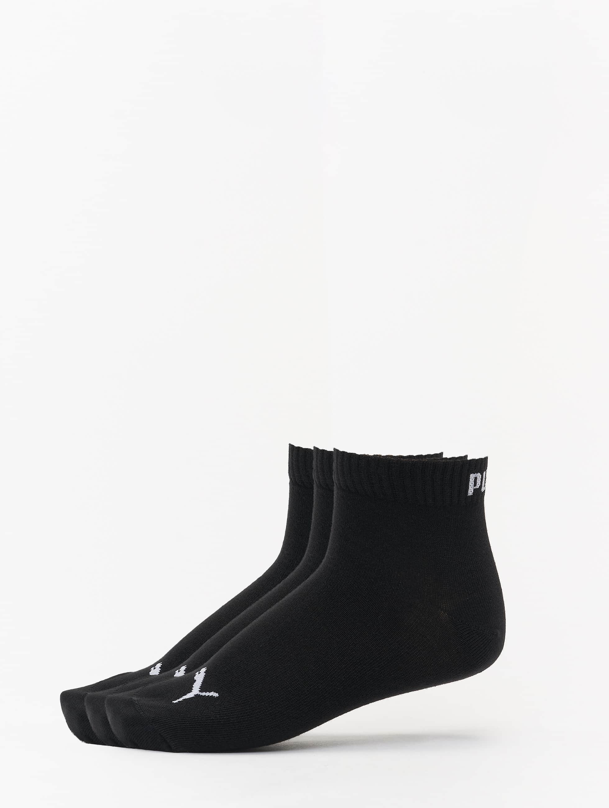 Puma Männer,Frauen Socken 3-Pack Quarters in schwarz