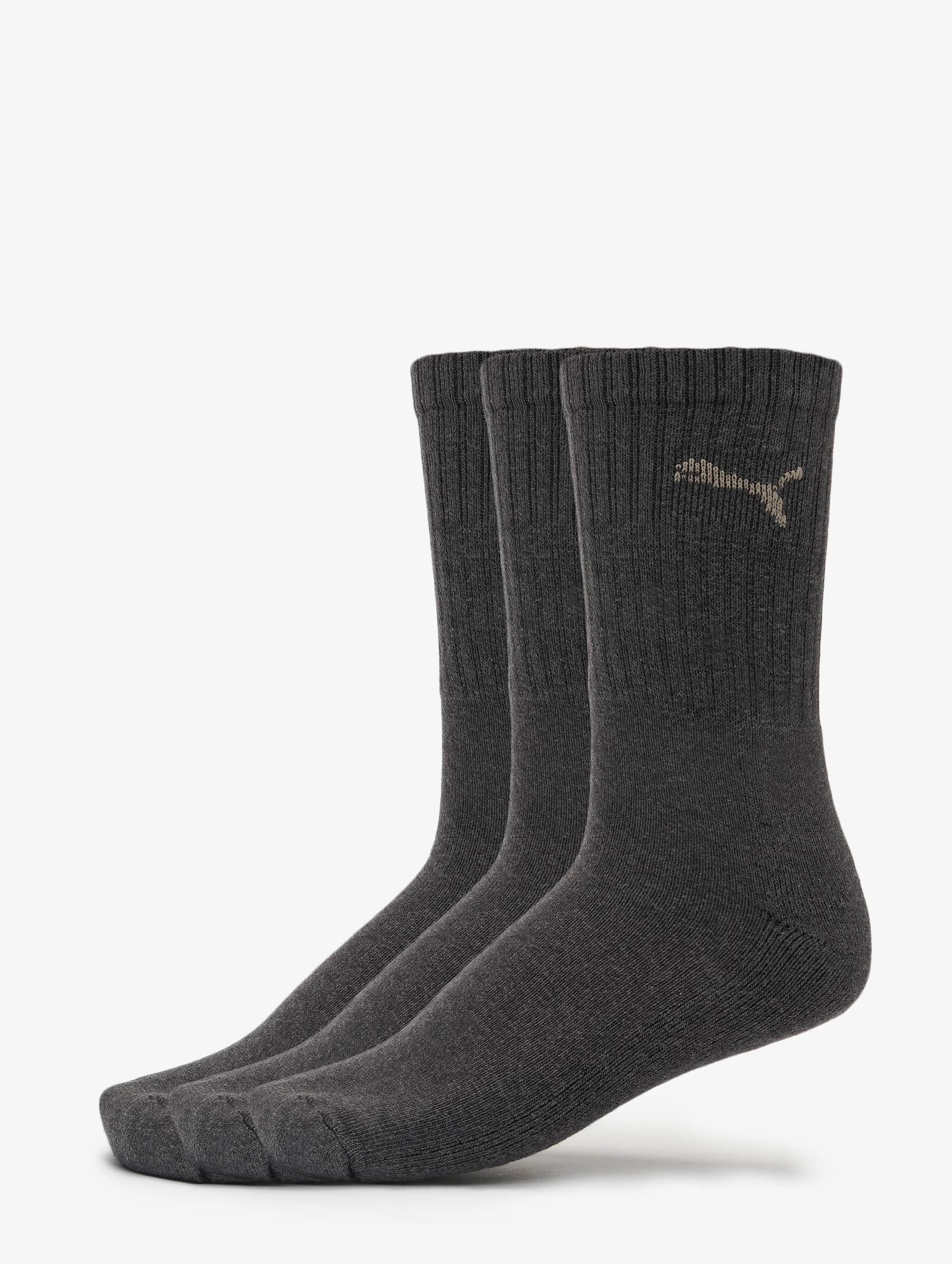 Puma Männer,Frauen Socken 3-Pack Sport in grau