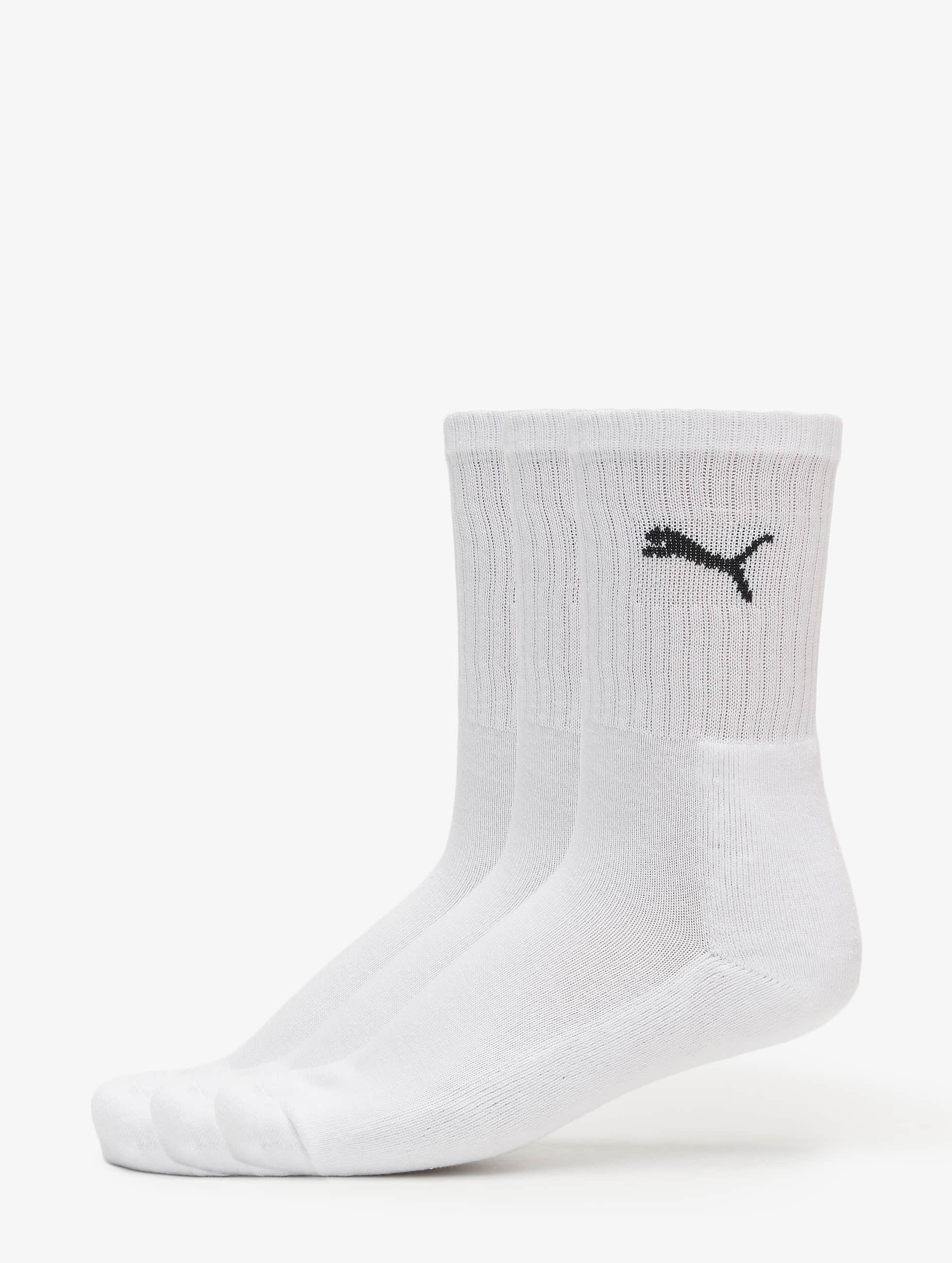 Puma Männer,Frauen Socken 3-Pack Sport in weiß