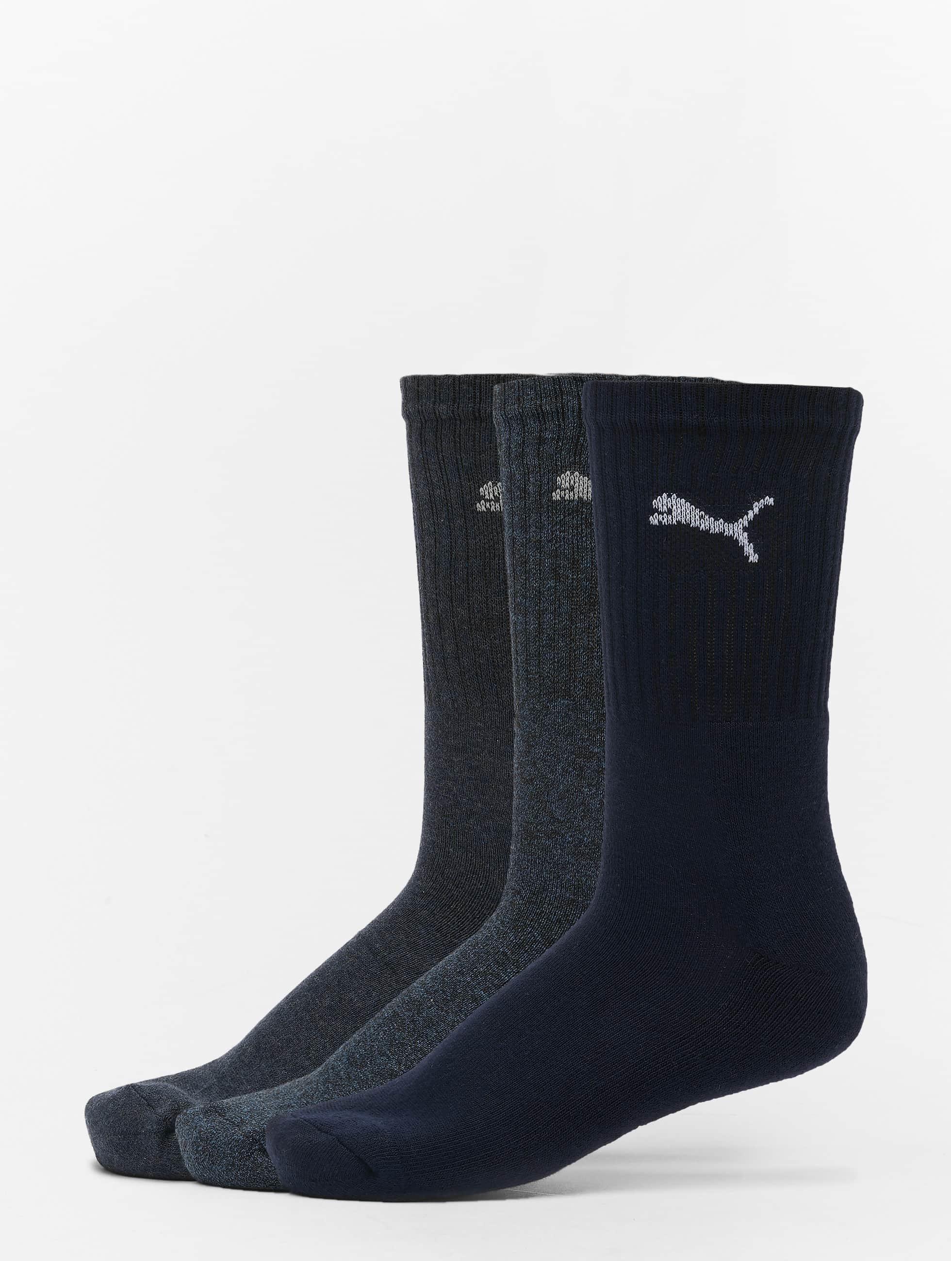 Puma Männer,Frauen Socken 3-Pack Sport in blau
