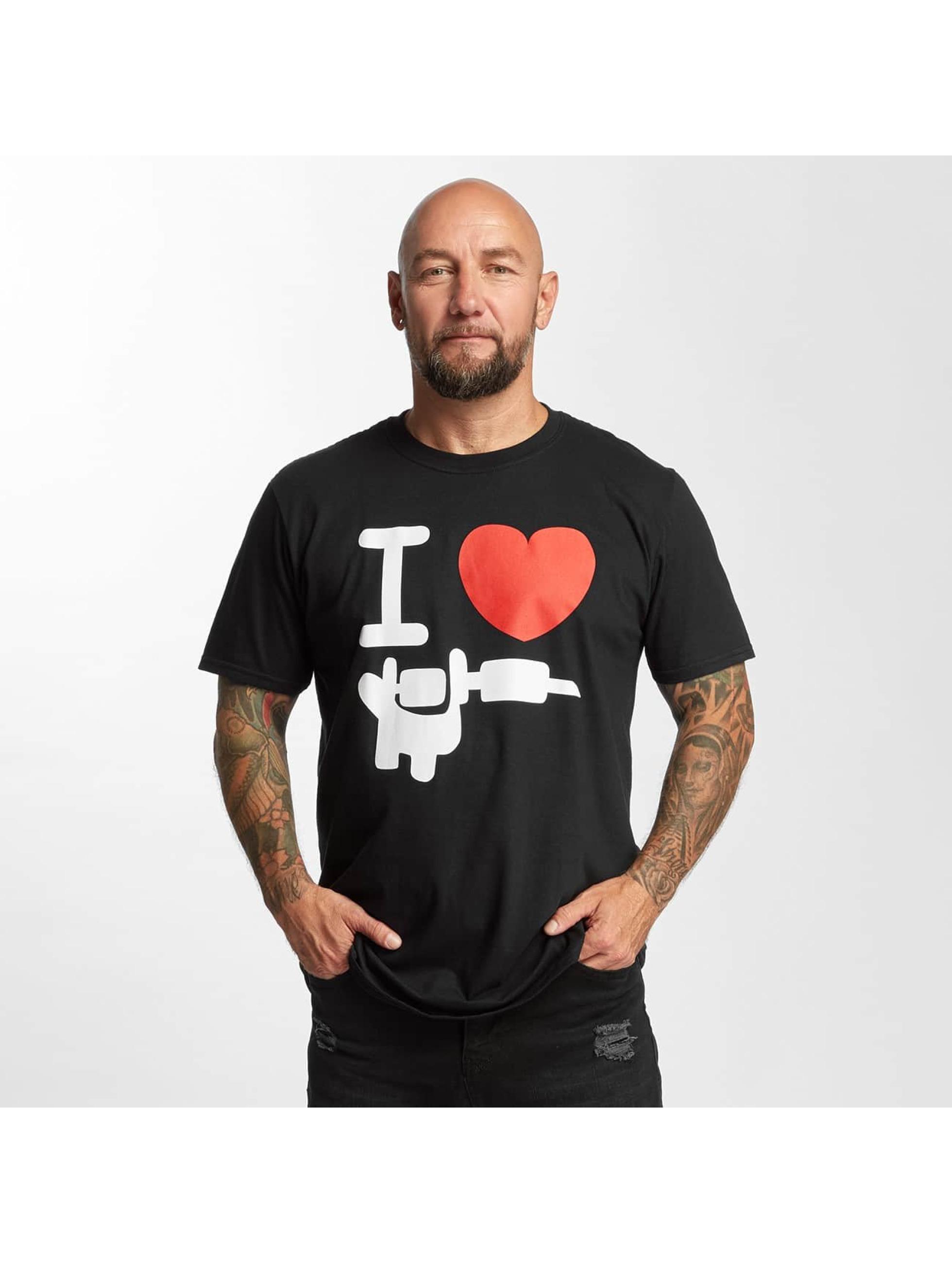I Love Tattoo Männer T-Shirt Basic in schwarz