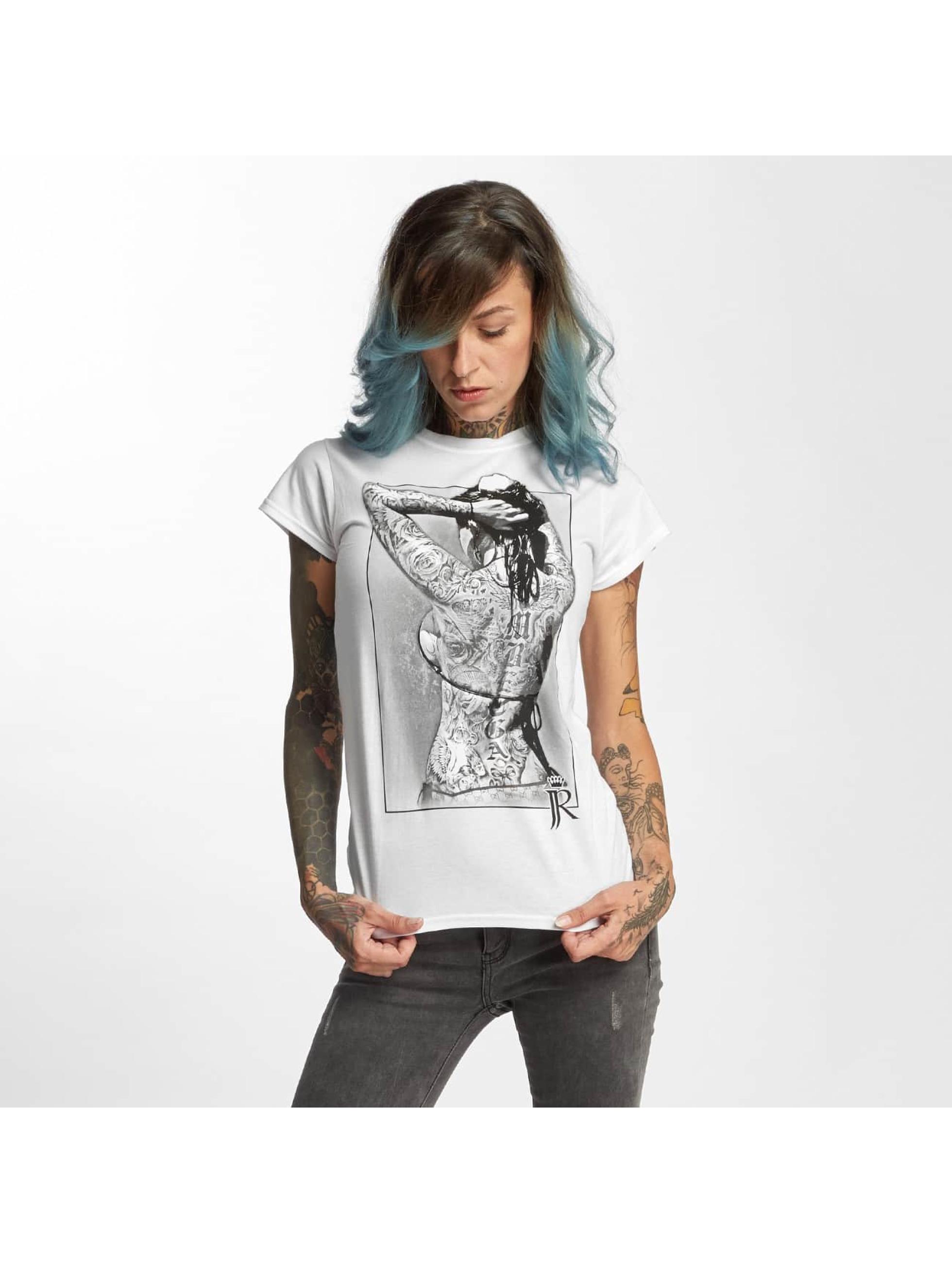 I Love Tattoo Frauen T-Shirt JJR in weiß