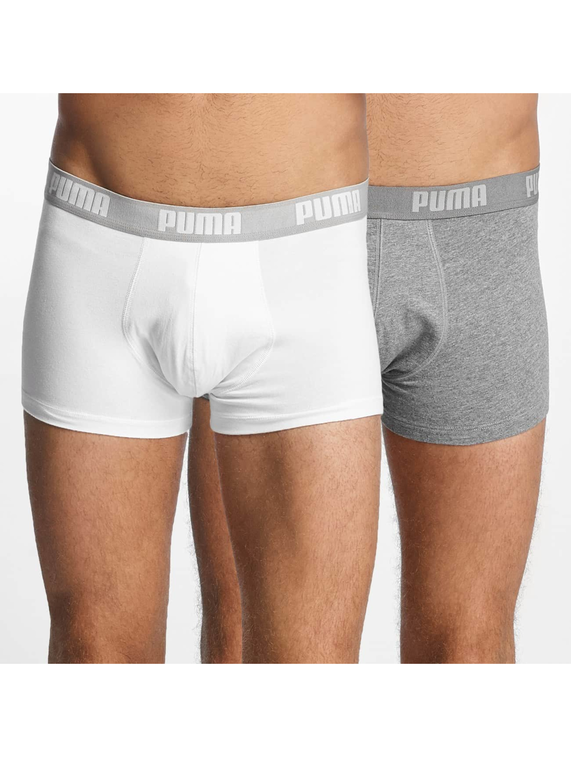 puma herren w sche bademode boxershorts 2 pack basic trunk ebay. Black Bedroom Furniture Sets. Home Design Ideas