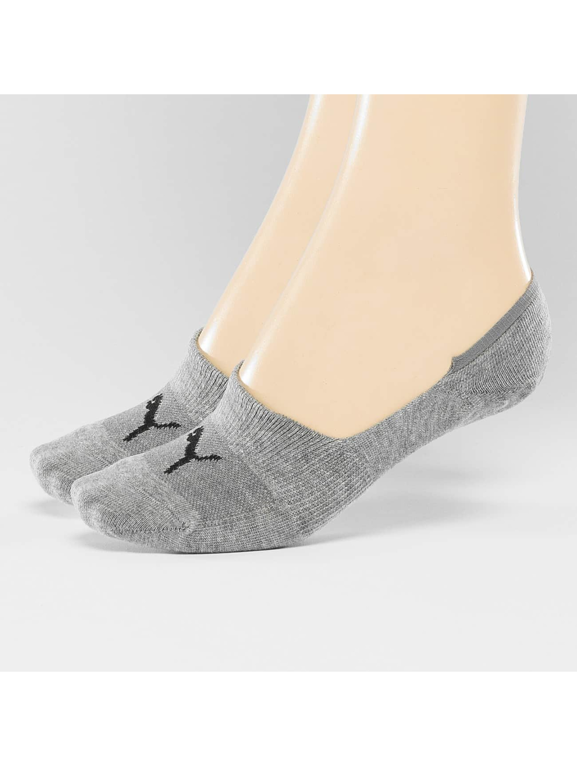 Puma Männer,Frauen Socken 2-Pack Footies in grau