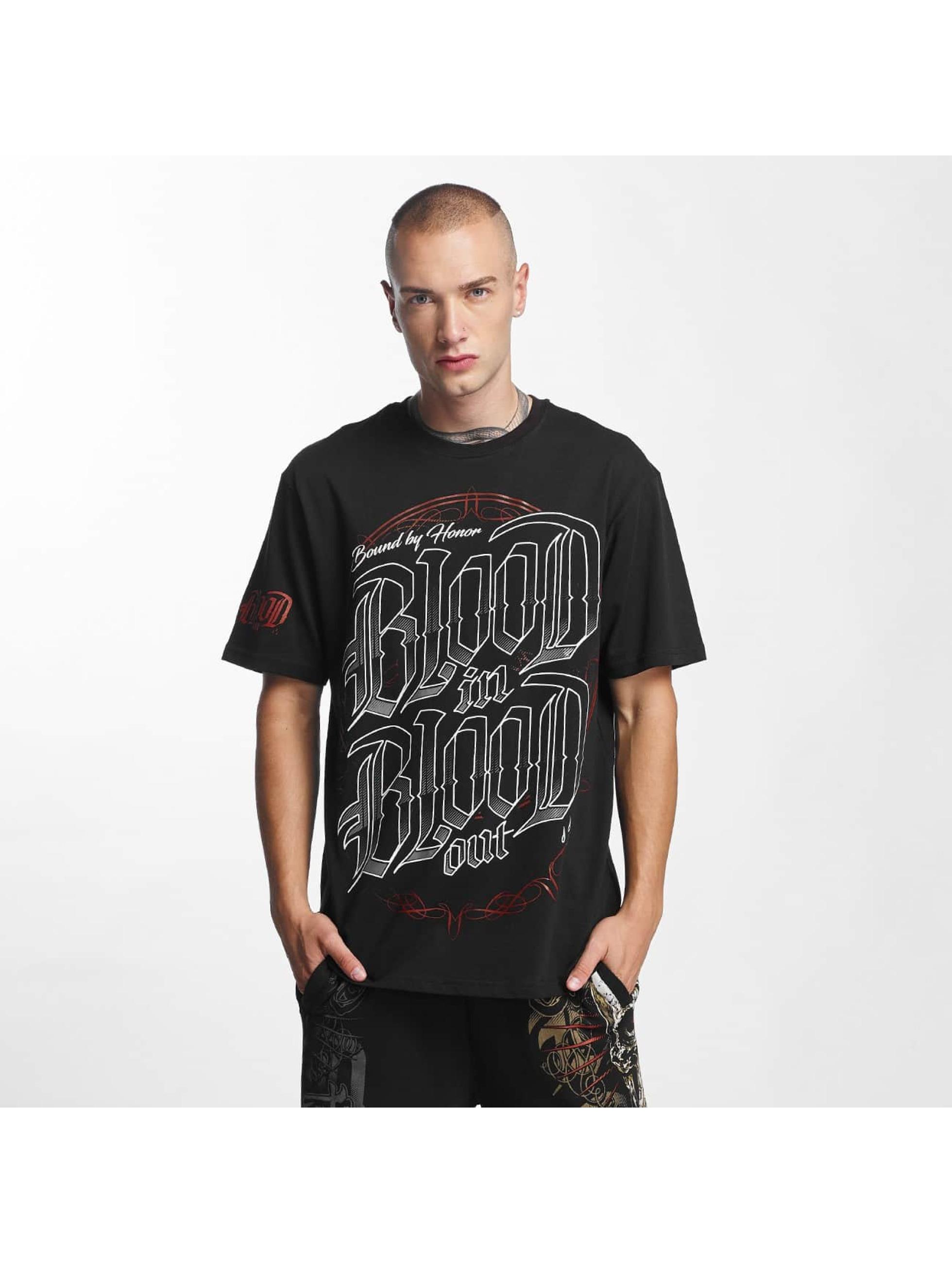 Blood In Blood Out Männer T-Shirt Emblema in schwarz