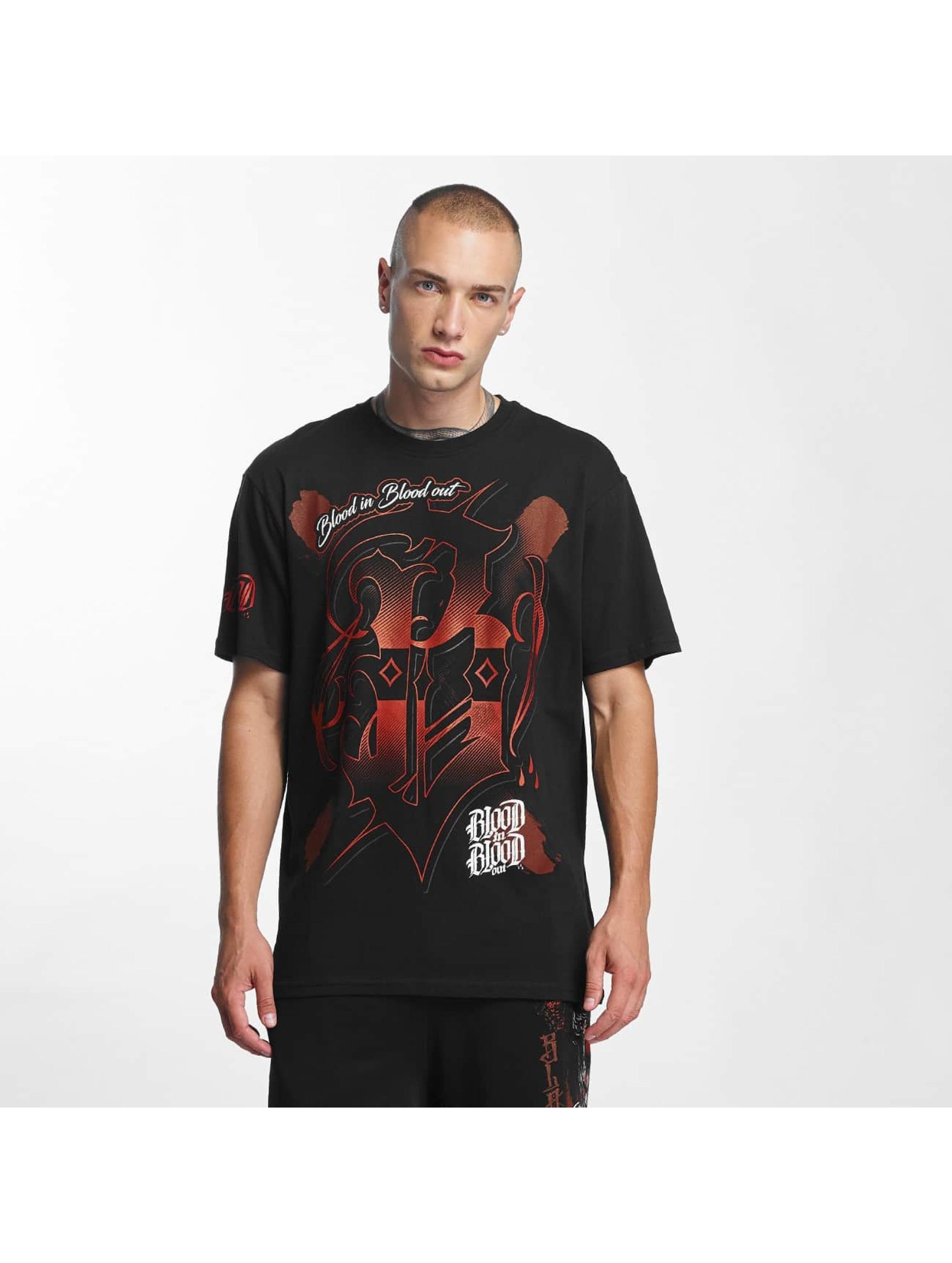 Blood In Blood Out Männer T-Shirt Escudo in schwarz