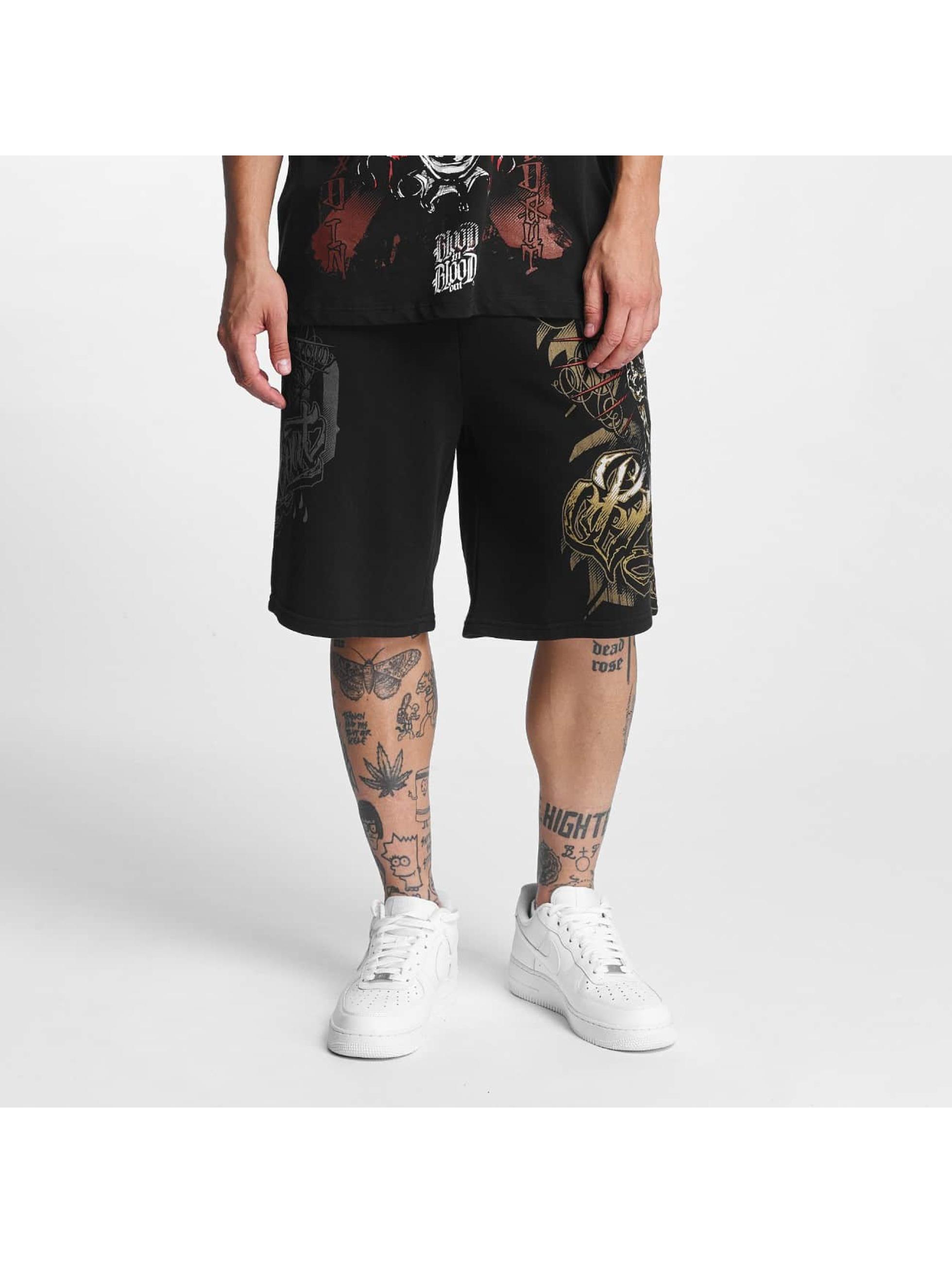 Blood In Blood Out Männer Shorts Infernal in schwarz