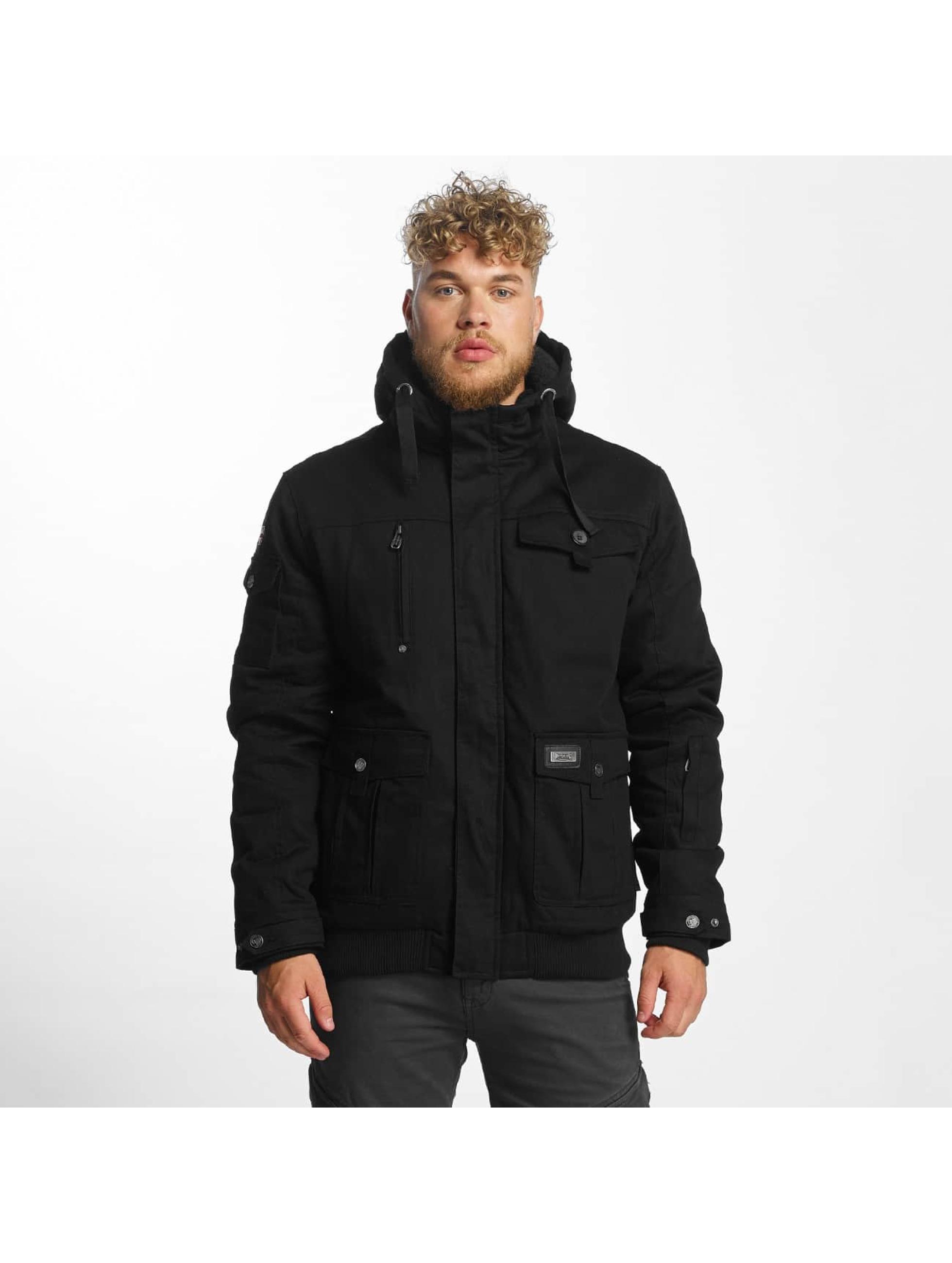 Lonsdale London Männer Winterjacke Rahoy in schwarz
