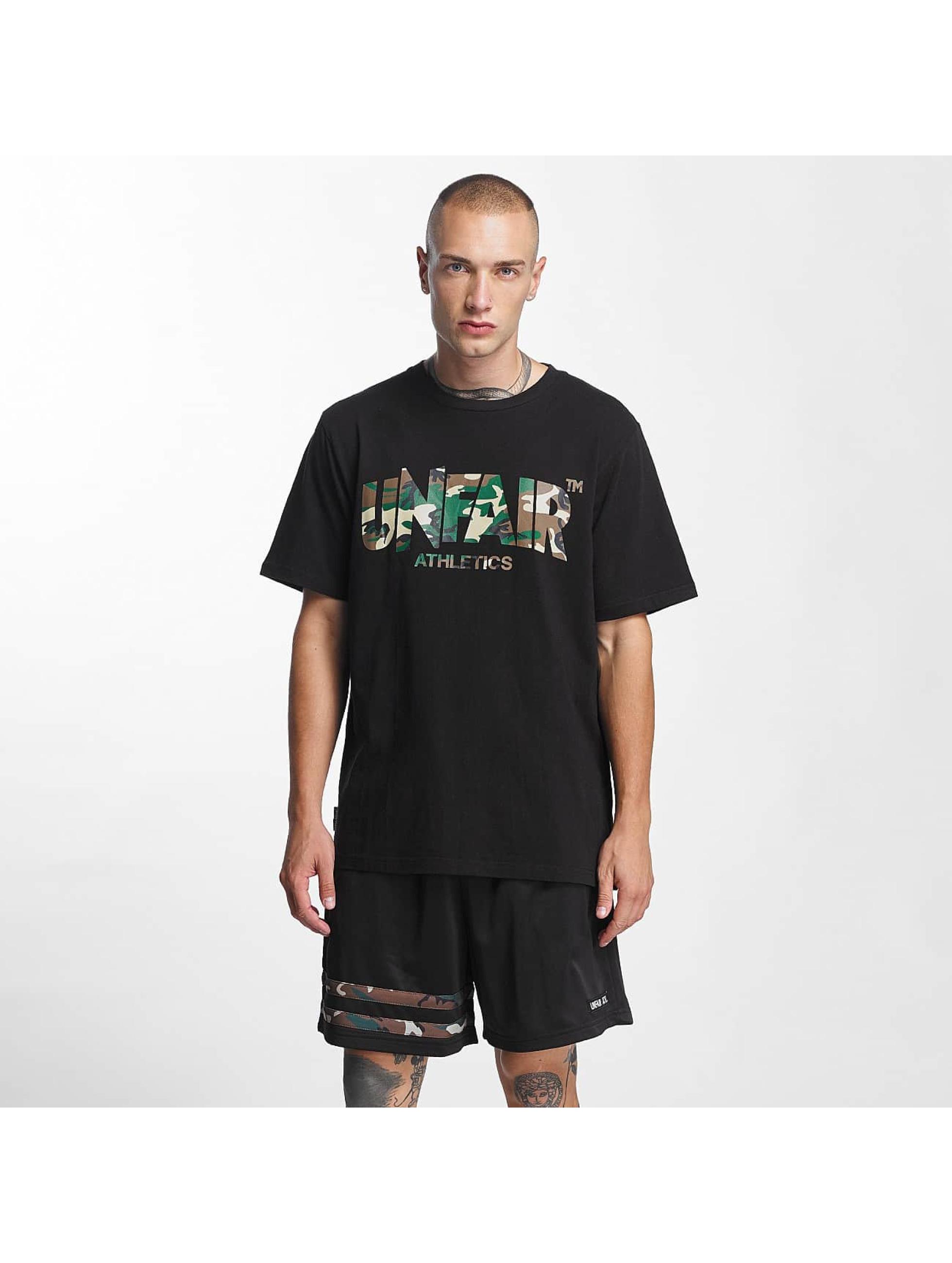 UNFAIR ATHLETICS Männer T-Shirt Classic Label in schwarz
