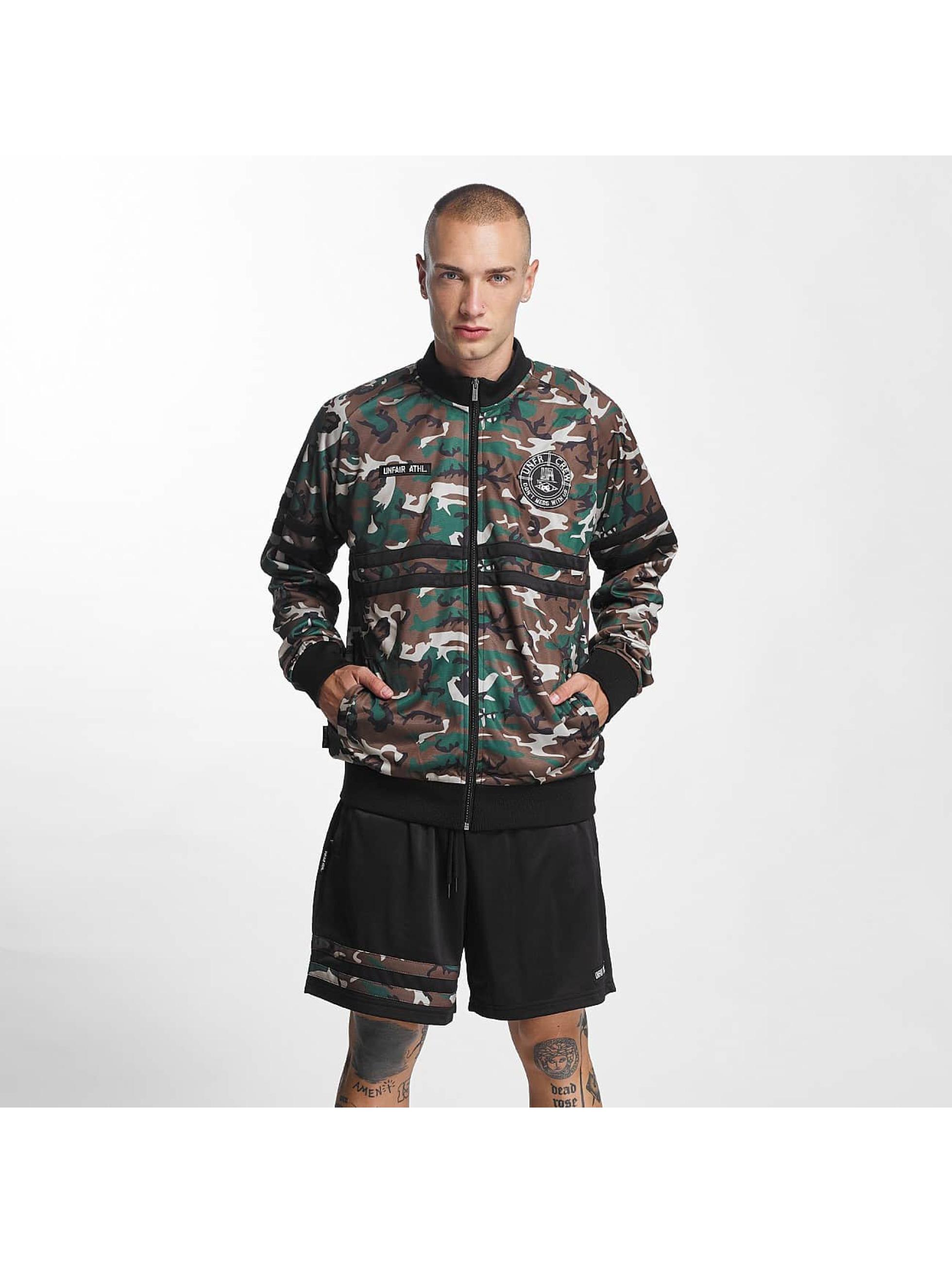 UNFAIR ATHLETICS Männer Übergangsjacke DMWU Tracktop in camouflage