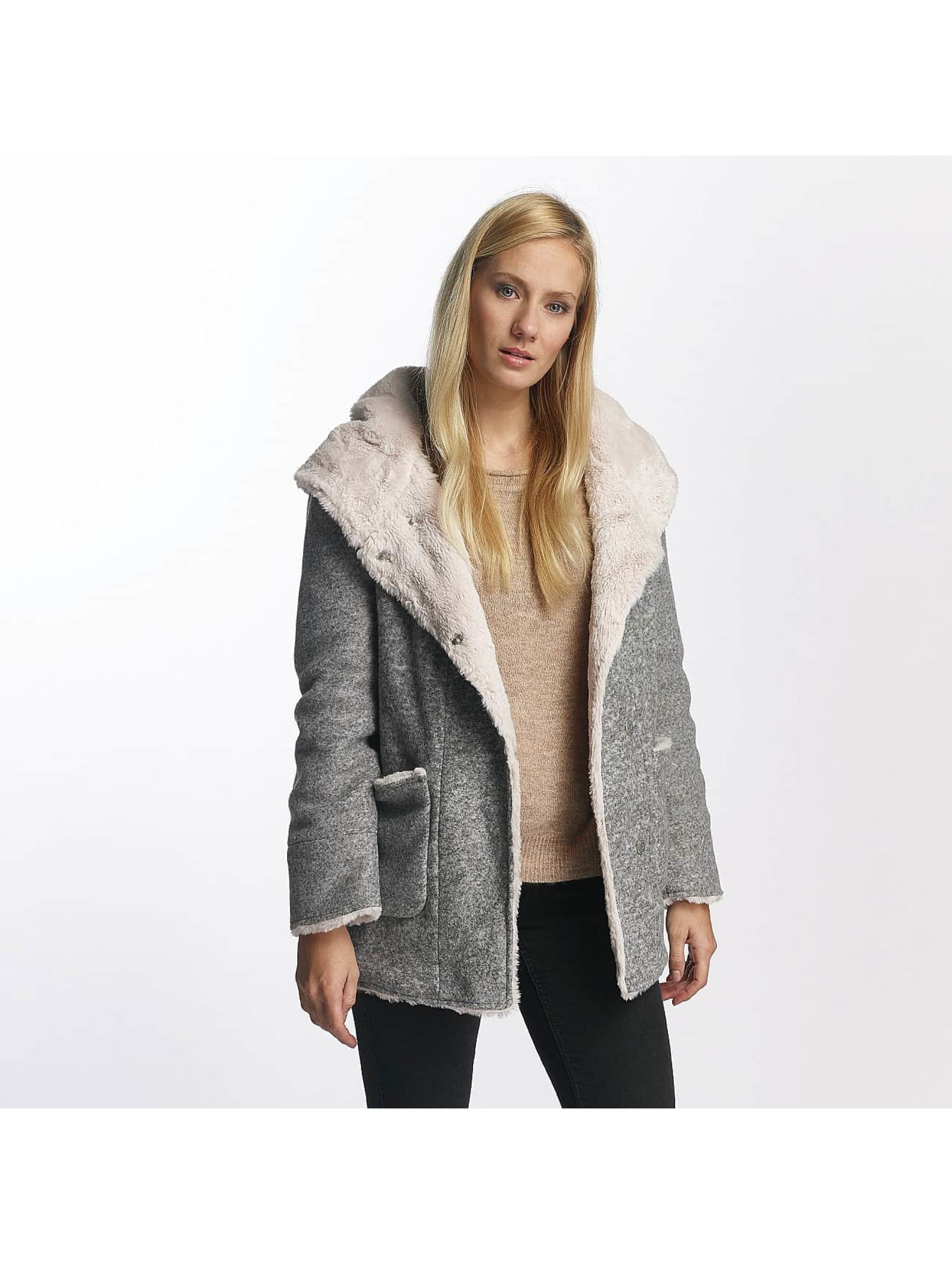 Sublevel Frauen Mantel Hooded Coat in grau