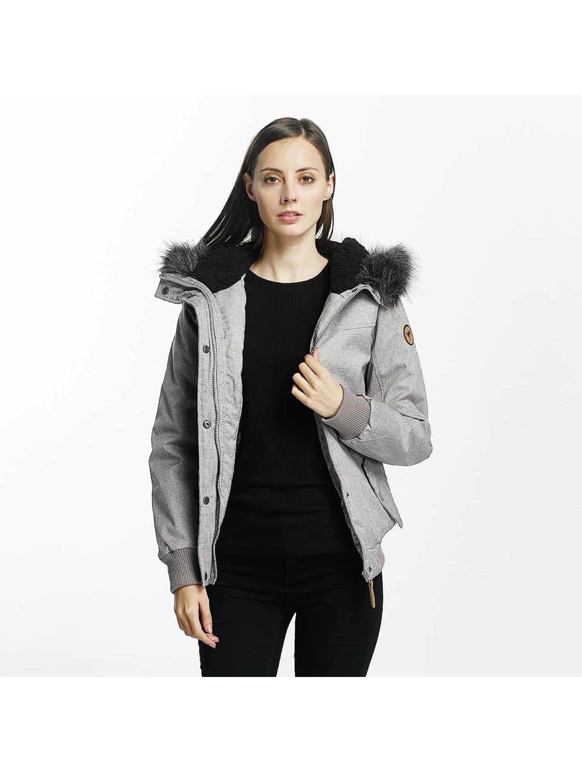 Eight2Nine Frauen Übergangsjacke Big Hood in grau