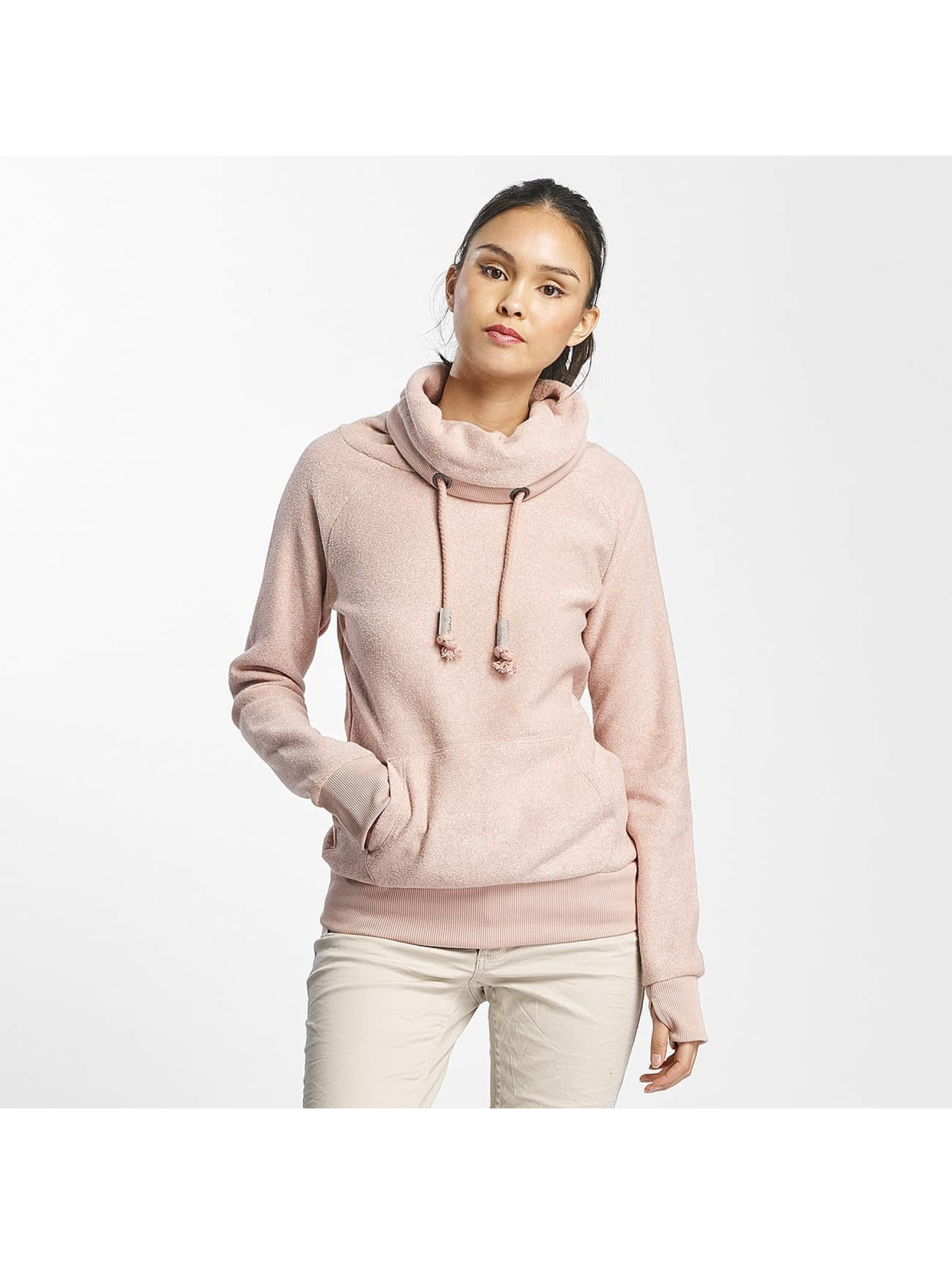 Sublevel Frauen Pullover High Neck Sweater in rosa