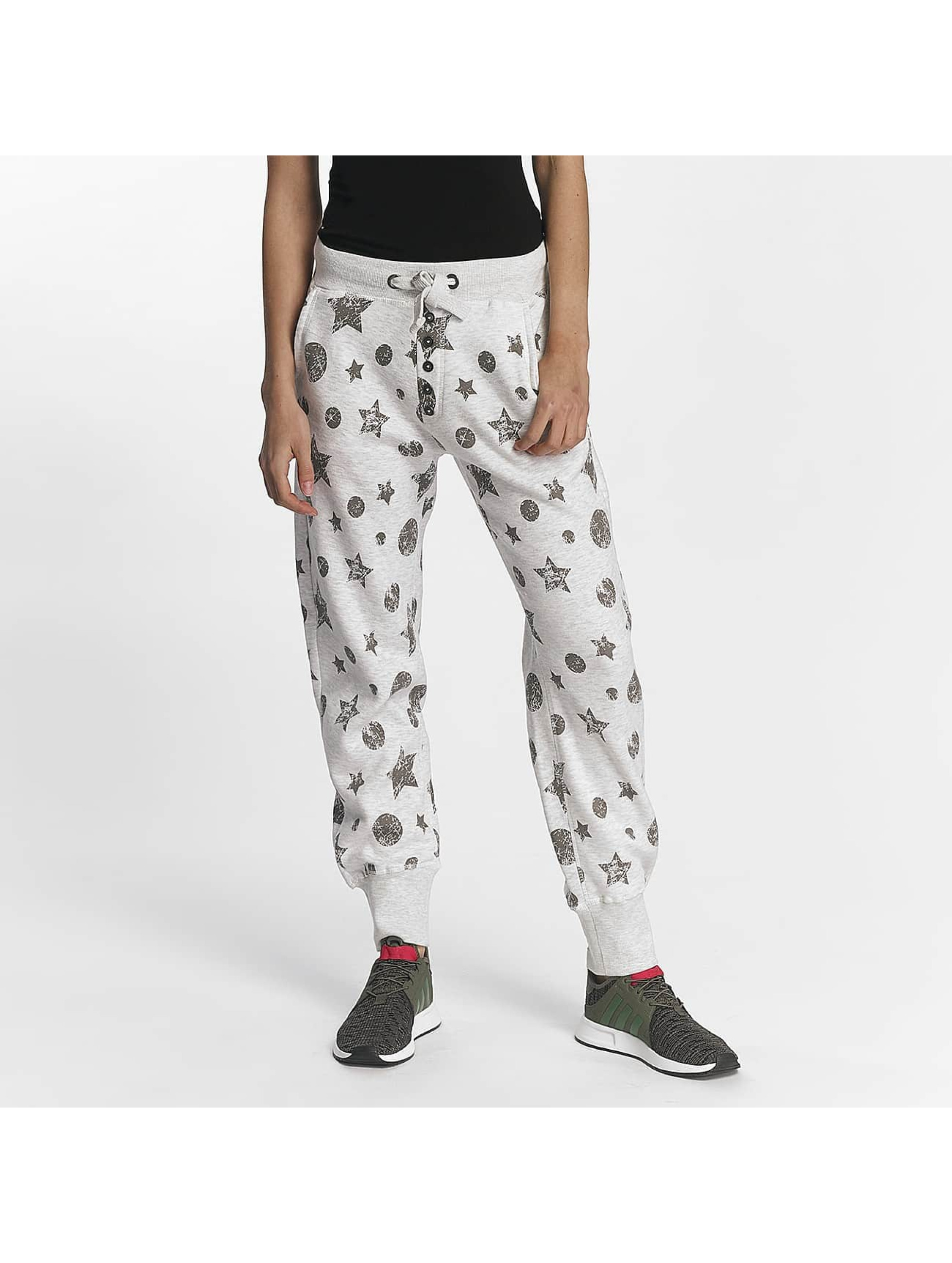 Sublevel Frauen Jogginghose Allover Print in grau
