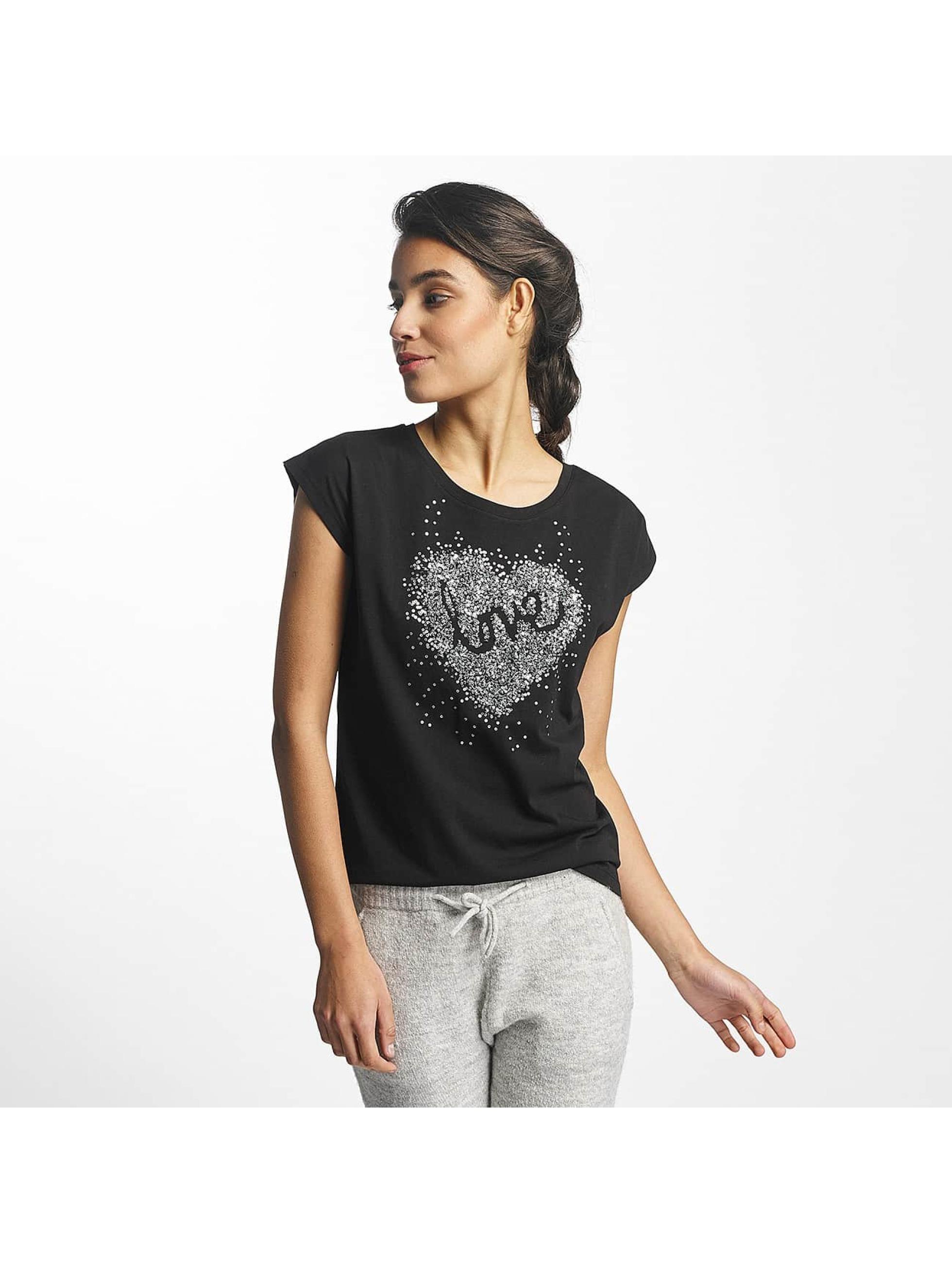 Fresh Made Frauen T-Shirt Love in schwarz